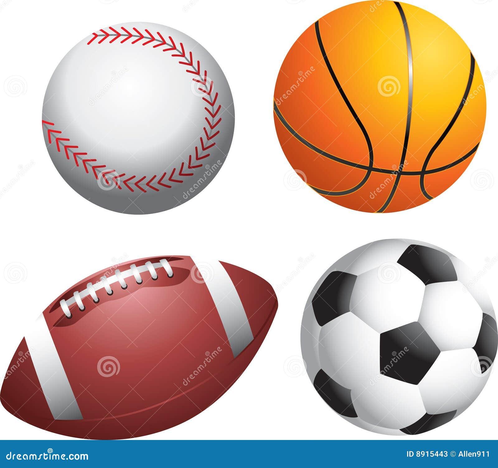 Multiple Sports Balls stock vector. Illustration of ...