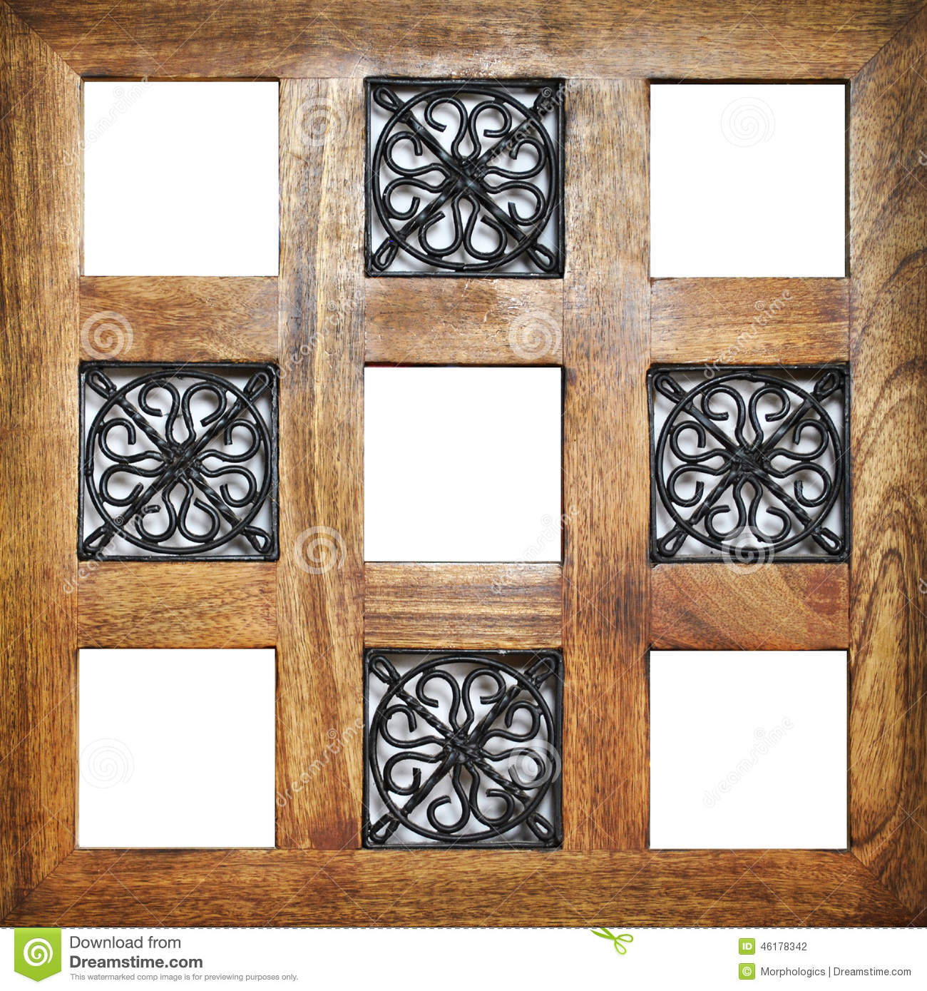 Multiple Wooden Empty Frame Positions Stock Photo  Image