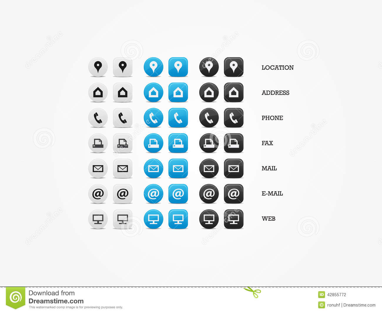 Multipurpose business card icon set of web icons for business multipurpose business card icon set stock photography colourmoves