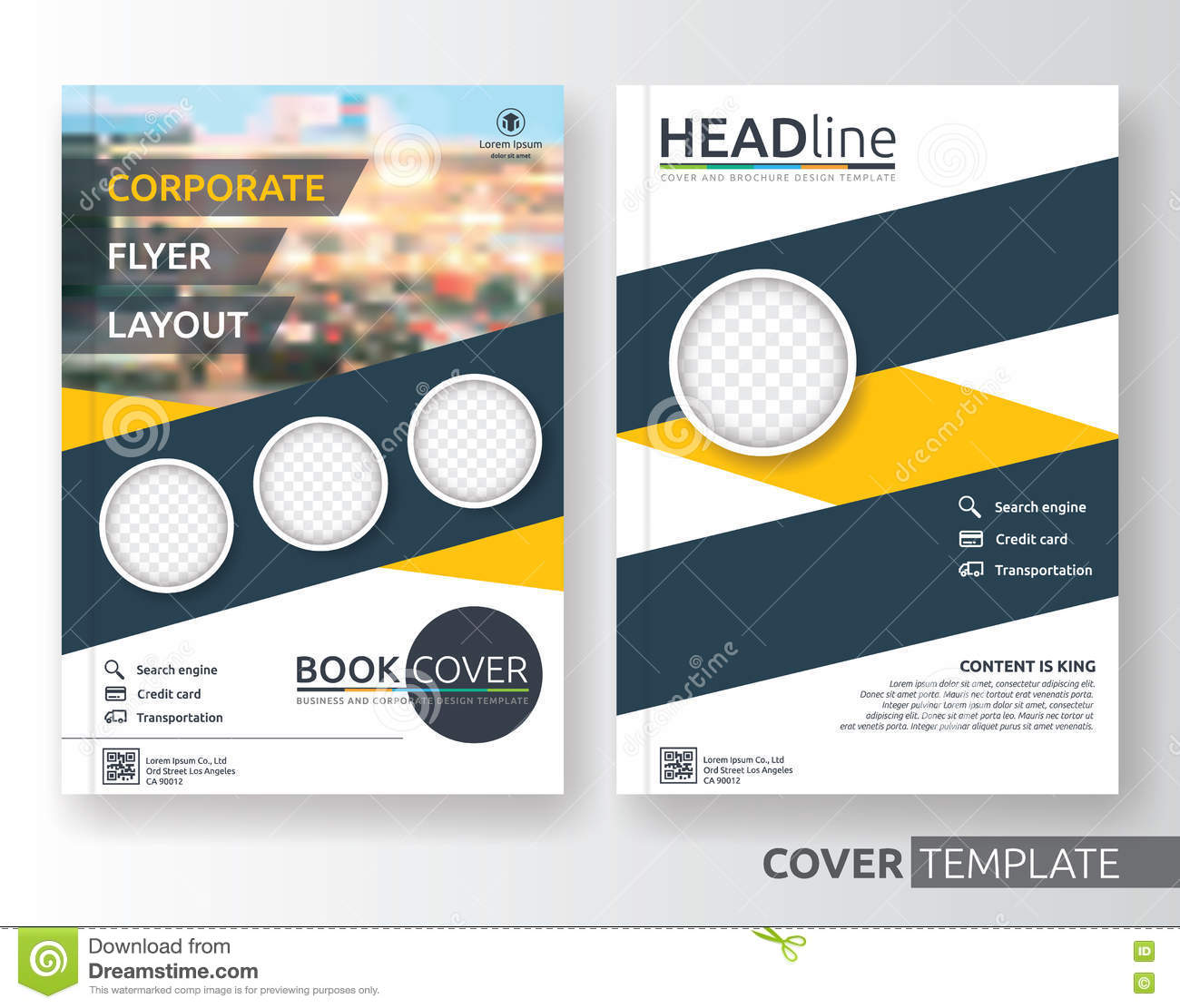 Corporate Book Cover Design Inspiration : Multipurpose business and corporate flyer layout design