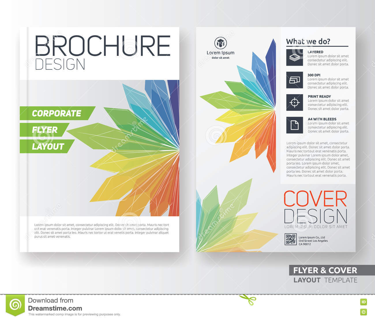 book brochure template - multipurpose corporate business flyer layout template