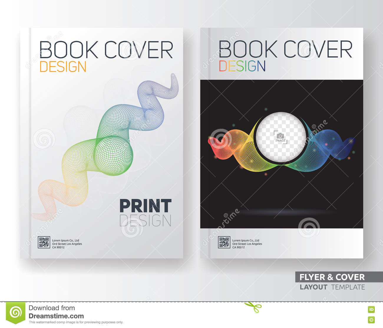 Book Cover Layout Examples : Multipurpose corporate business flyer layout template