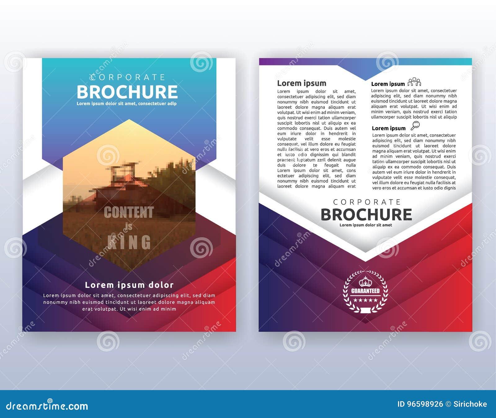 Multipurpose Modern Corporate Business Flyer Layout Design Stock