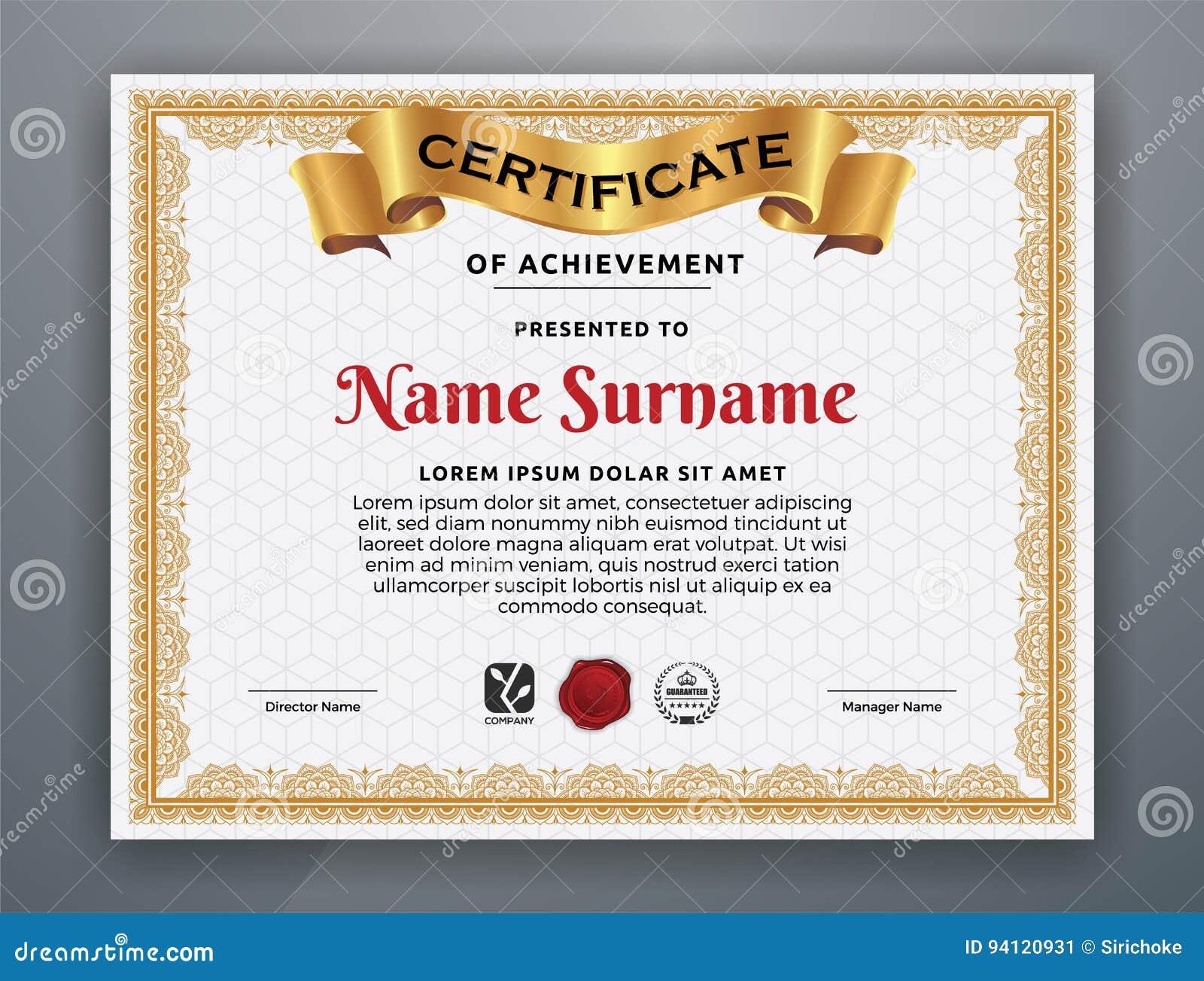 Multipurpose modern professional certificate template vector multipurpose modern professional certificate template vector illustration cartoondealer 94120938 1betcityfo Gallery