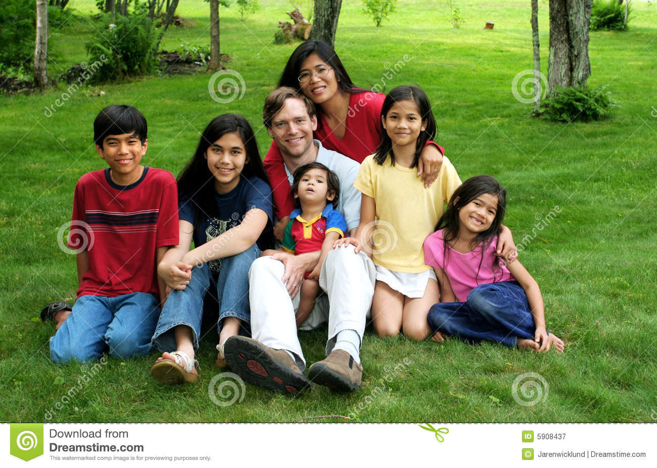 Multiracial Family Royalty Free Stock Photography  Image: 5908437
