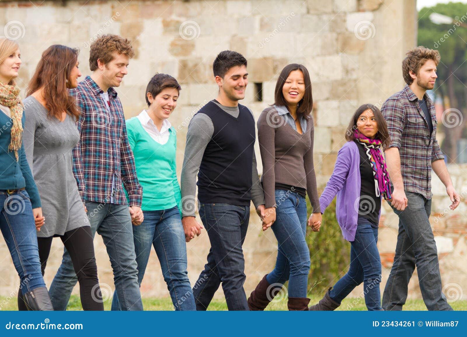 Multiracial grupp