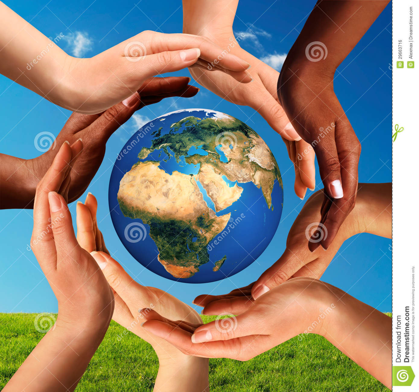 and cultural div...A Circle Of Hands Clipart