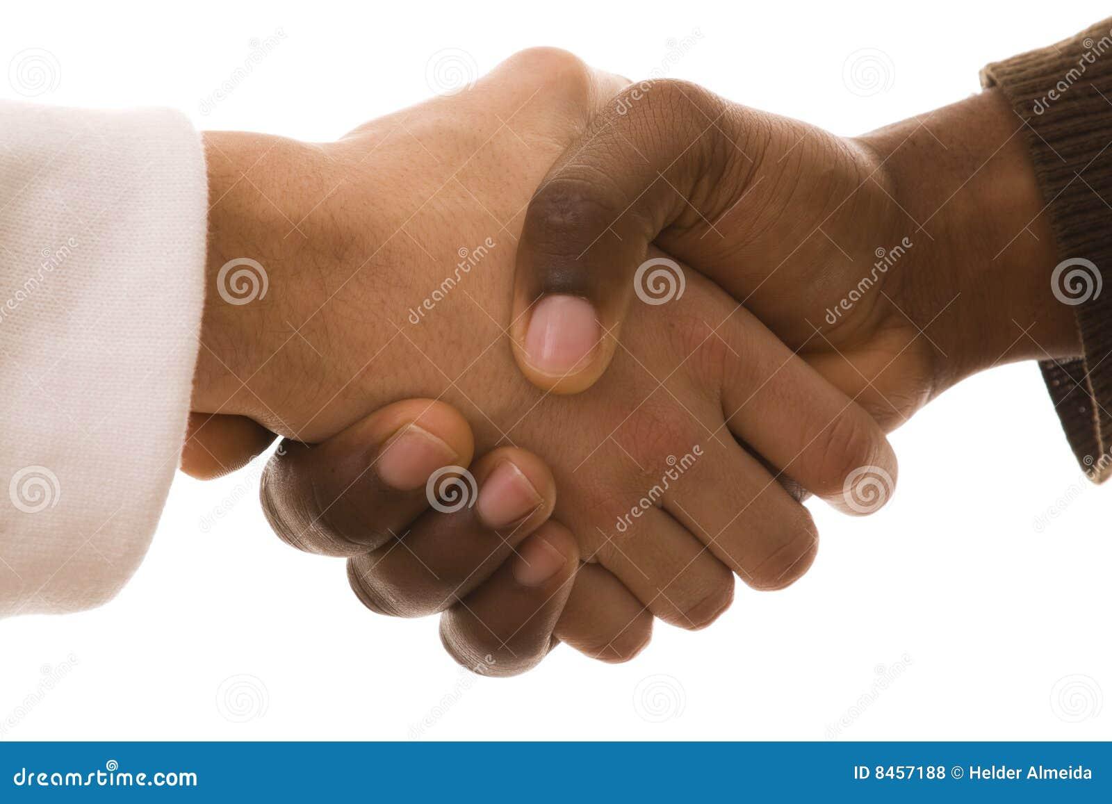 Multirracial handskakning