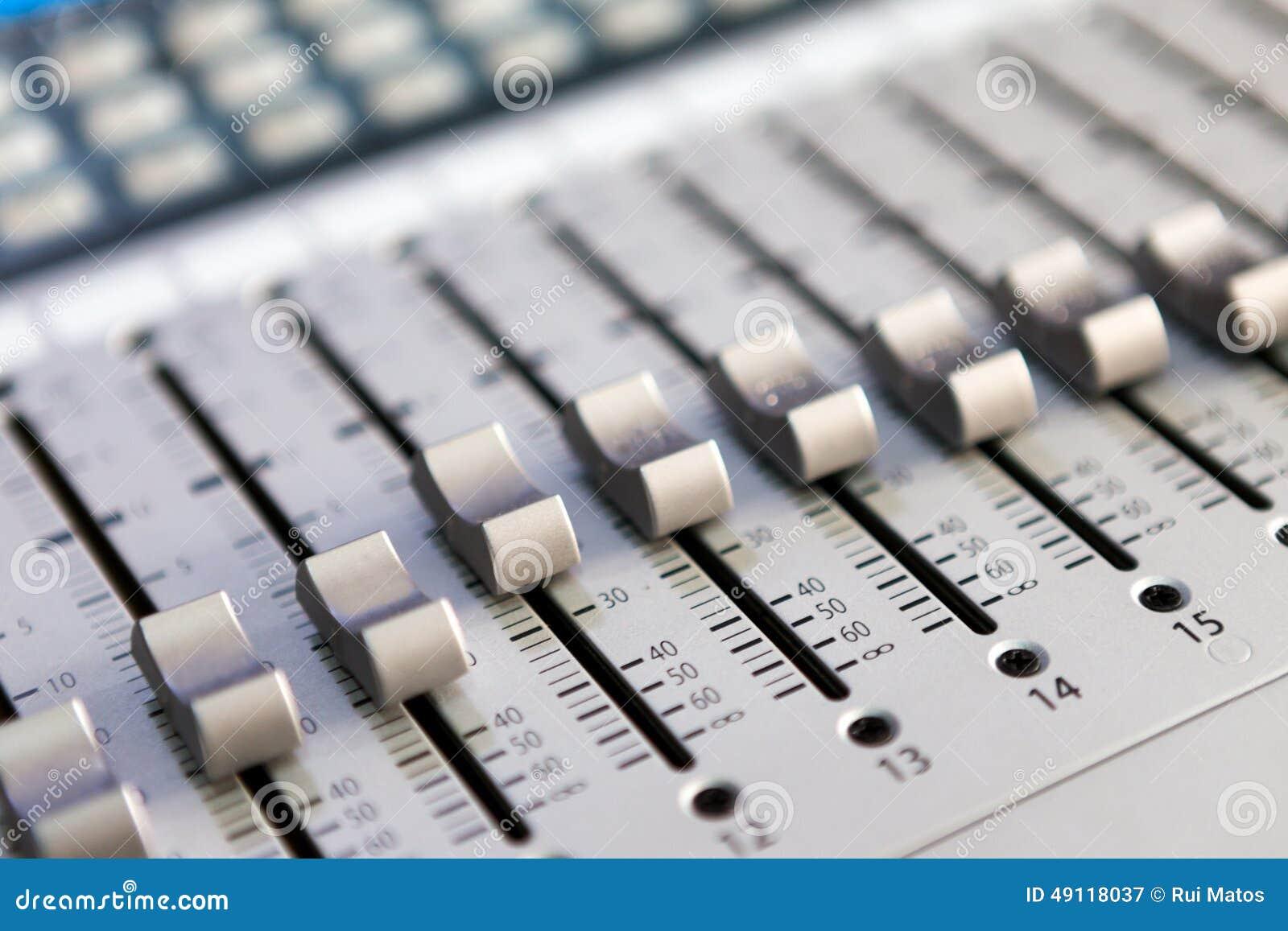 Download Multitrack Sound mixer stock image. Image of desktop - 49118037