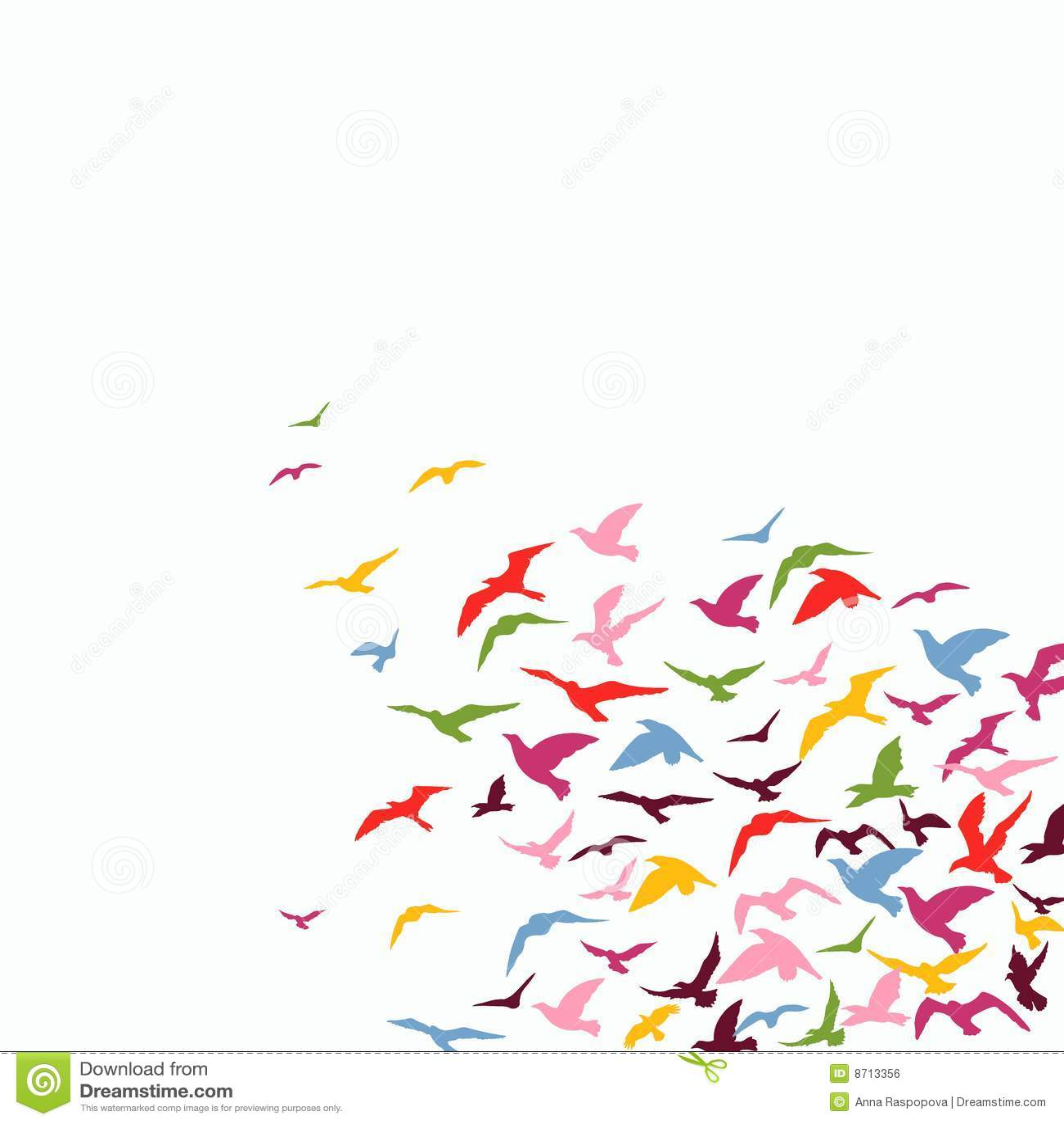Multitud de pájaros