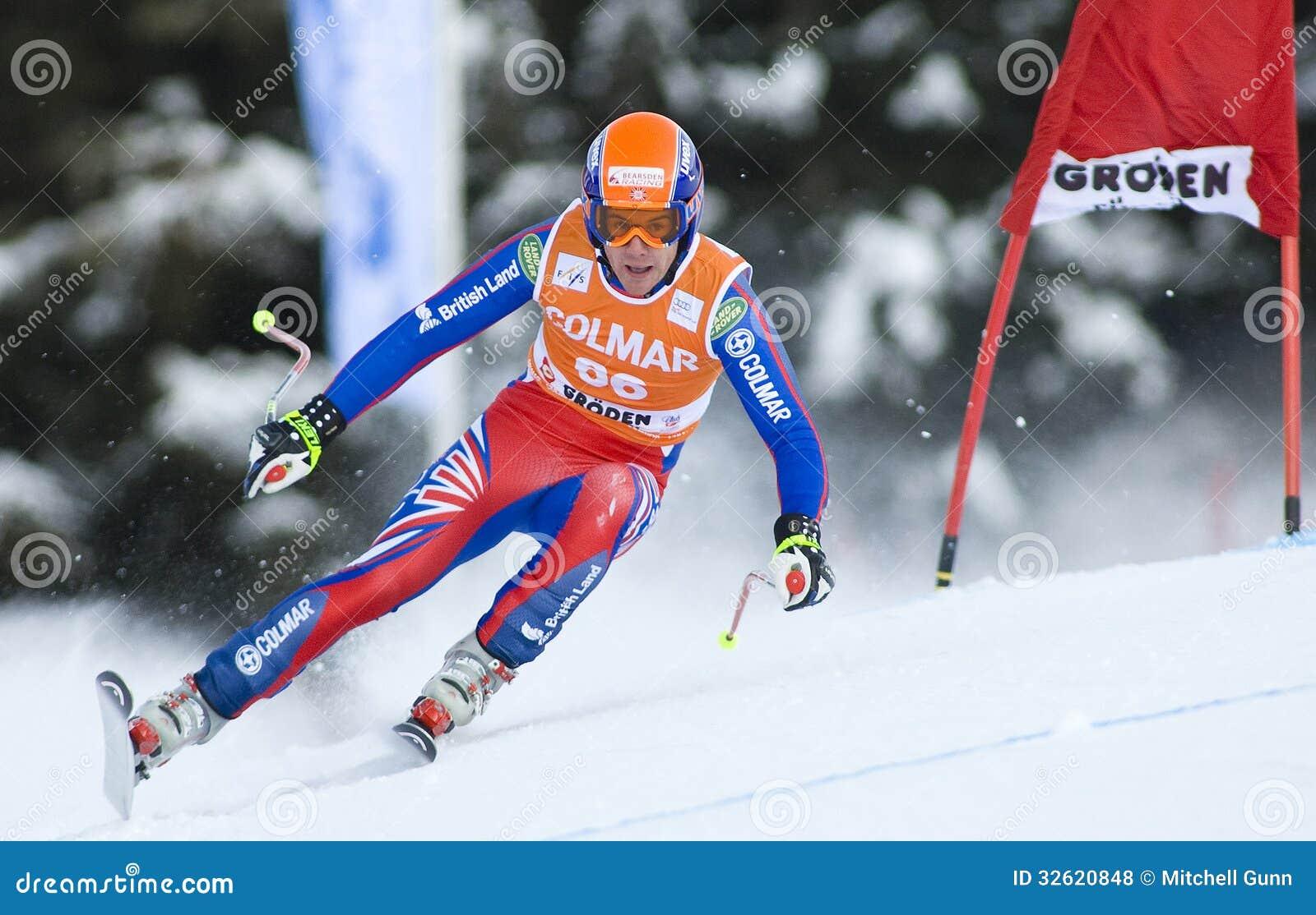 Mundial del esquí alpino - entrenamiento en declive de Val Gardena