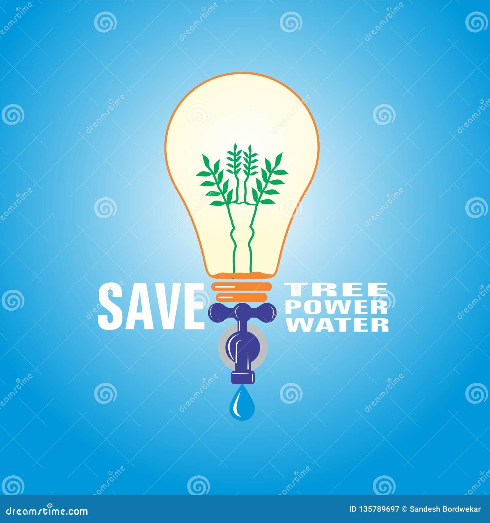 MUNDO abstracto de ahorro del poder de agua de la naturaleza