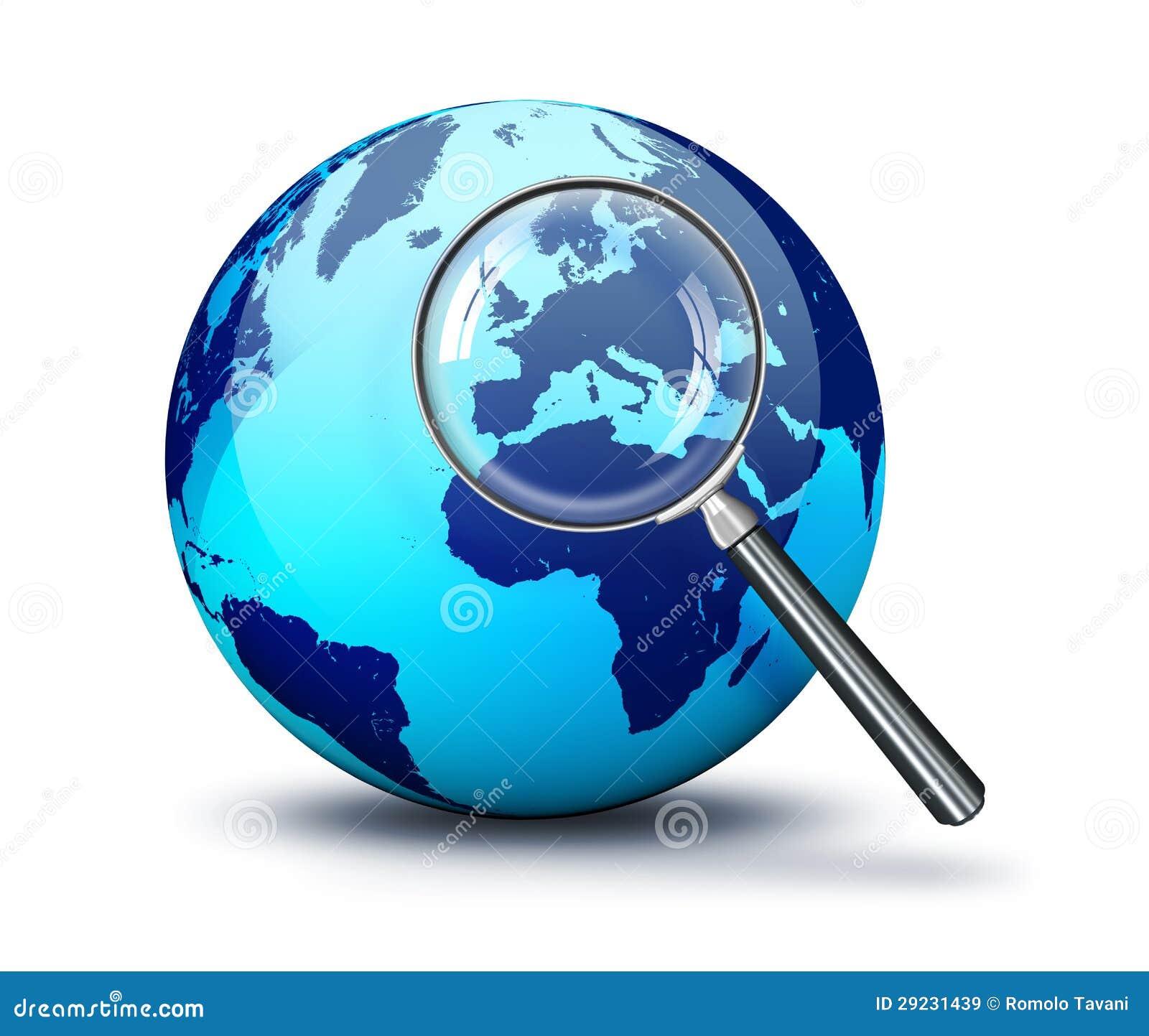 Download Mundo Azul - Foco Em Europa Ilustração Stock - Ilustração de europa, atlas: 29231439