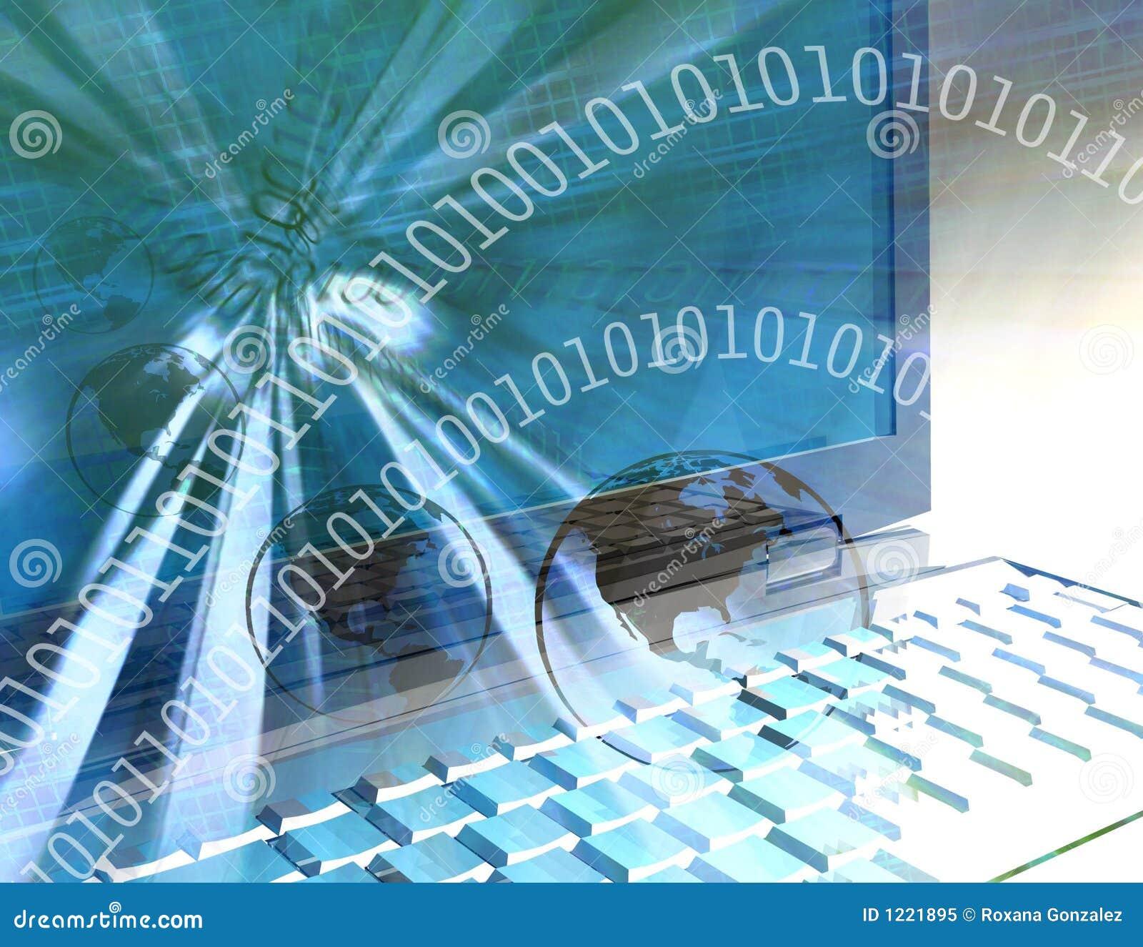 Mundo de la informática - azul