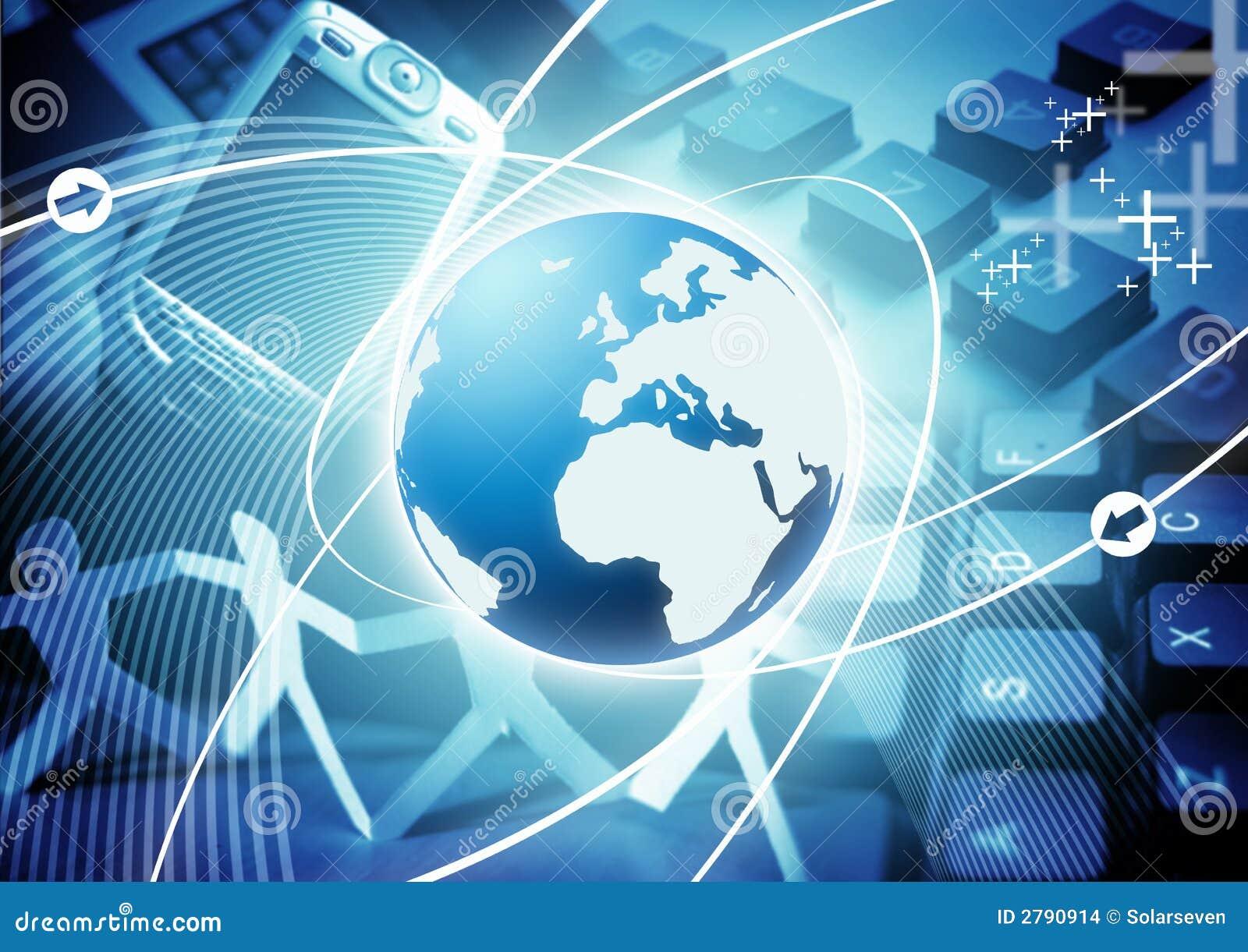 Una imagen basada en el mundo y la tecnología en asunto