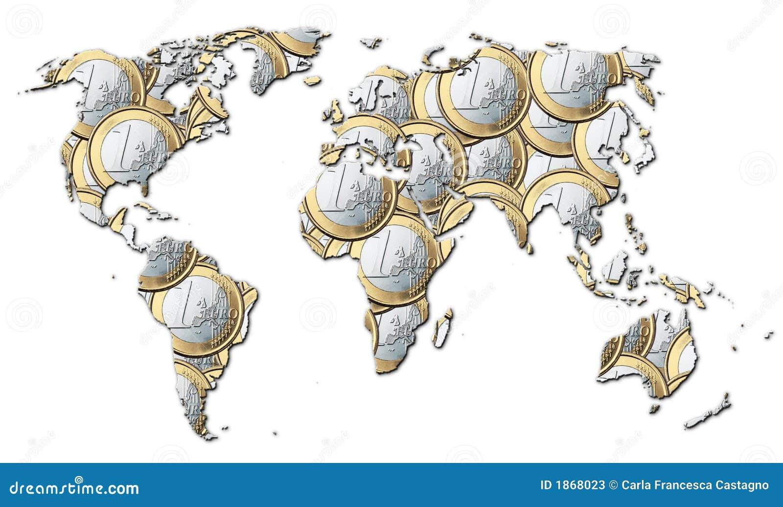 Mundo del dinero euros stock de ilustraci n imagen de continente 1868023 - Vloerlamp van de wereld ...