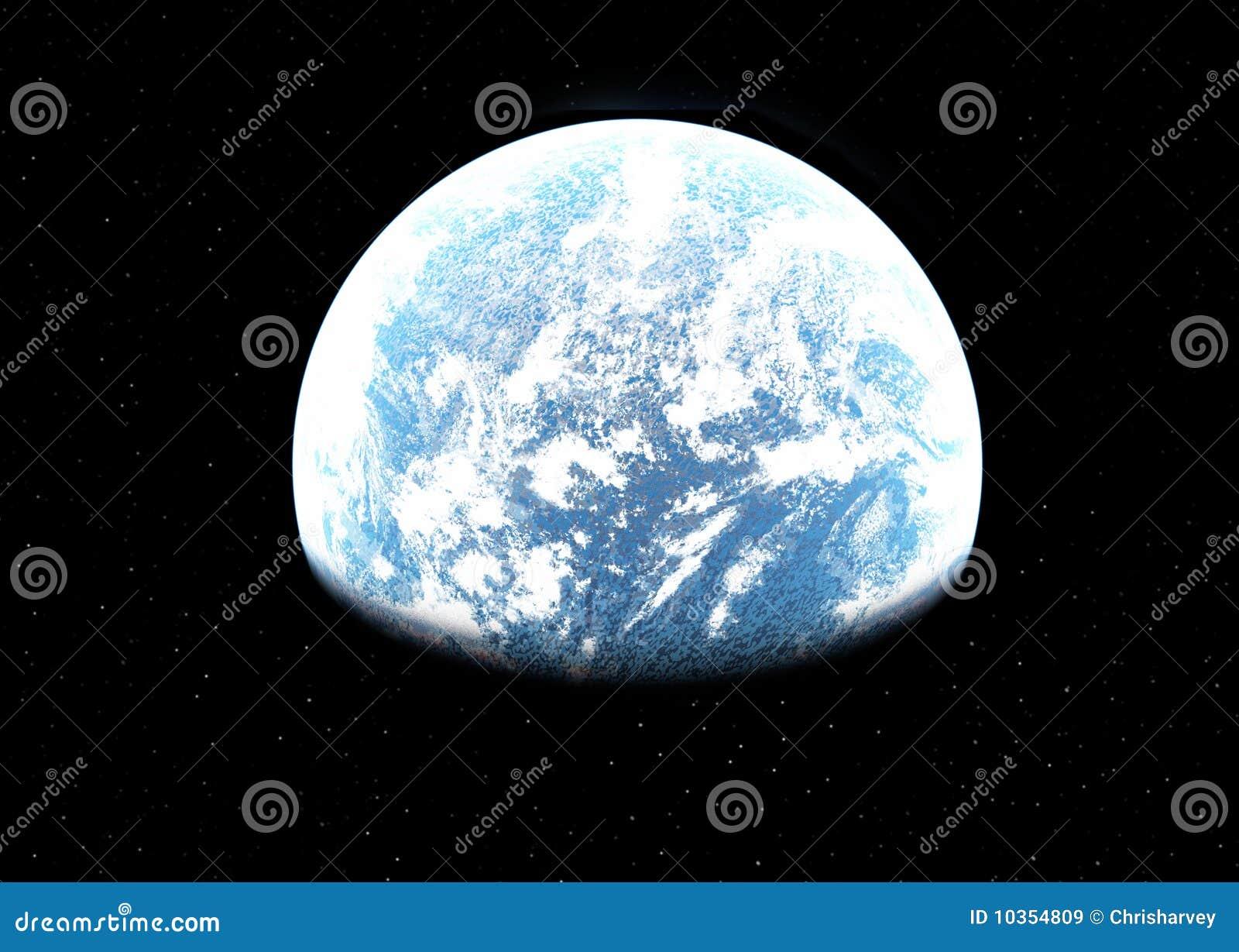 Mundo estrangeiro no espaço