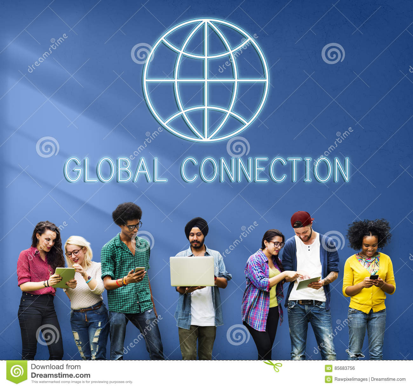 Mundo mundial global International Concept de la conexión
