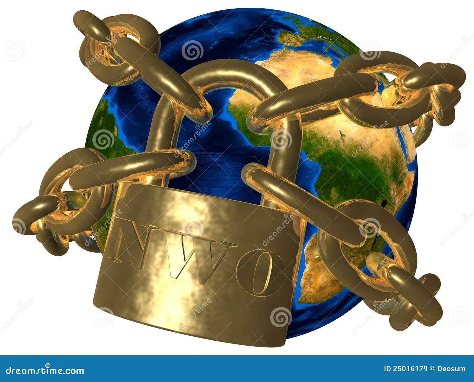 Mundo novo do ordem mundial (AGORA) - nas correntes