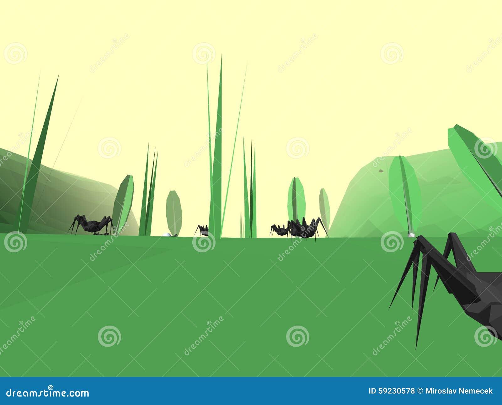 Download Mundo Retro Polivinílico Bajo Del Insecto Del Estilo Stock de ilustración - Ilustración de gráficos, plantas: 59230578