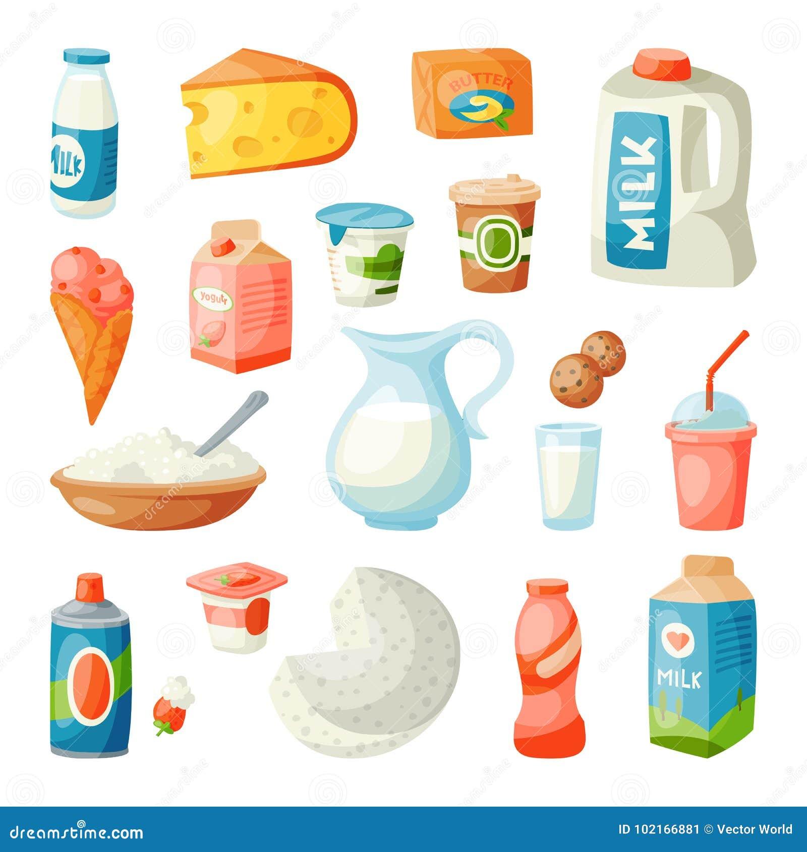 Munga i prodotti lattier-caseario nel vettore latteo di nutrizione dell ingrediente della bevanda di stile della prima colazione
