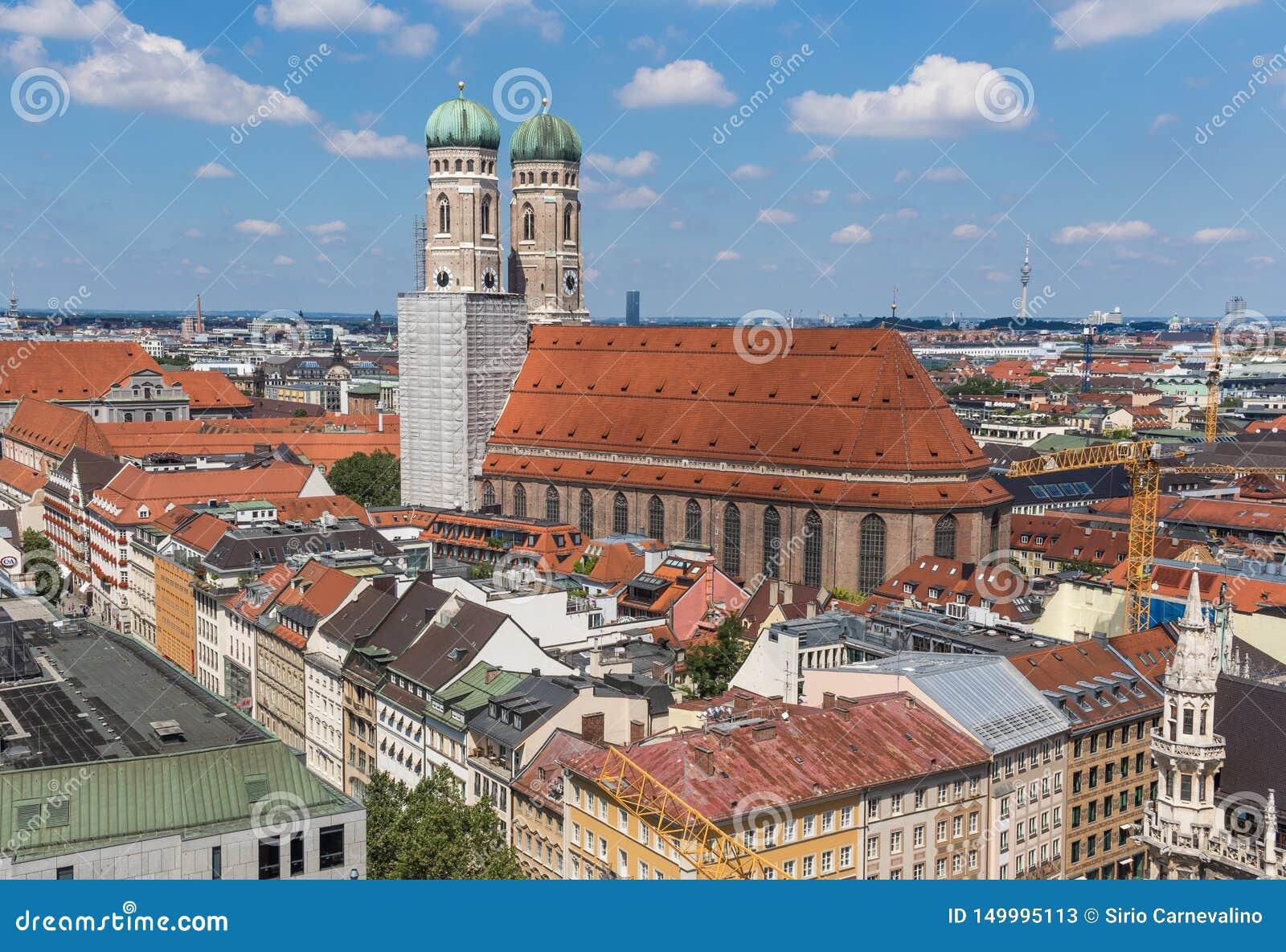 Munich, Alemanha - uma cidade velha do patrimônio mundial do Unesco