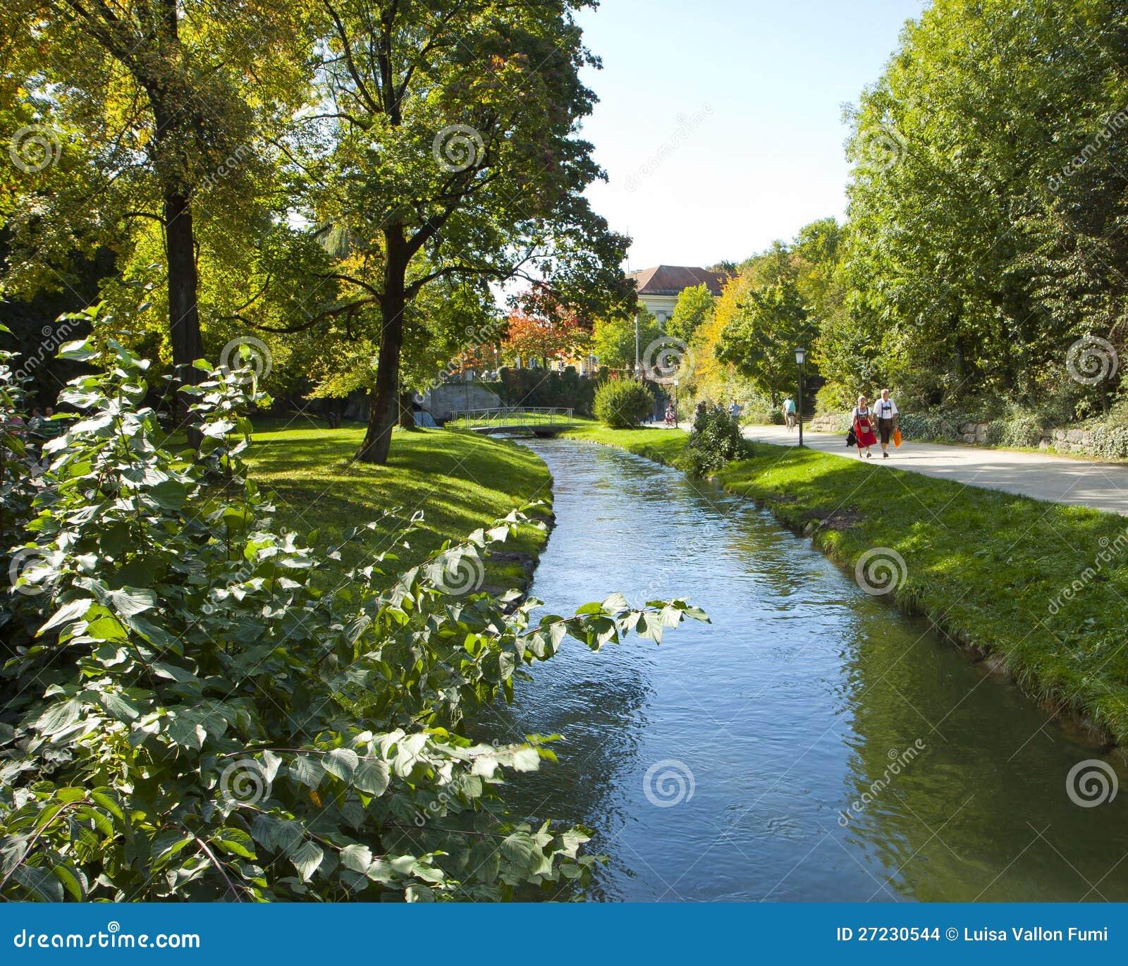 Spielplätze Englischer Garten: Munich, Englischer Garten Editorial Stock Image