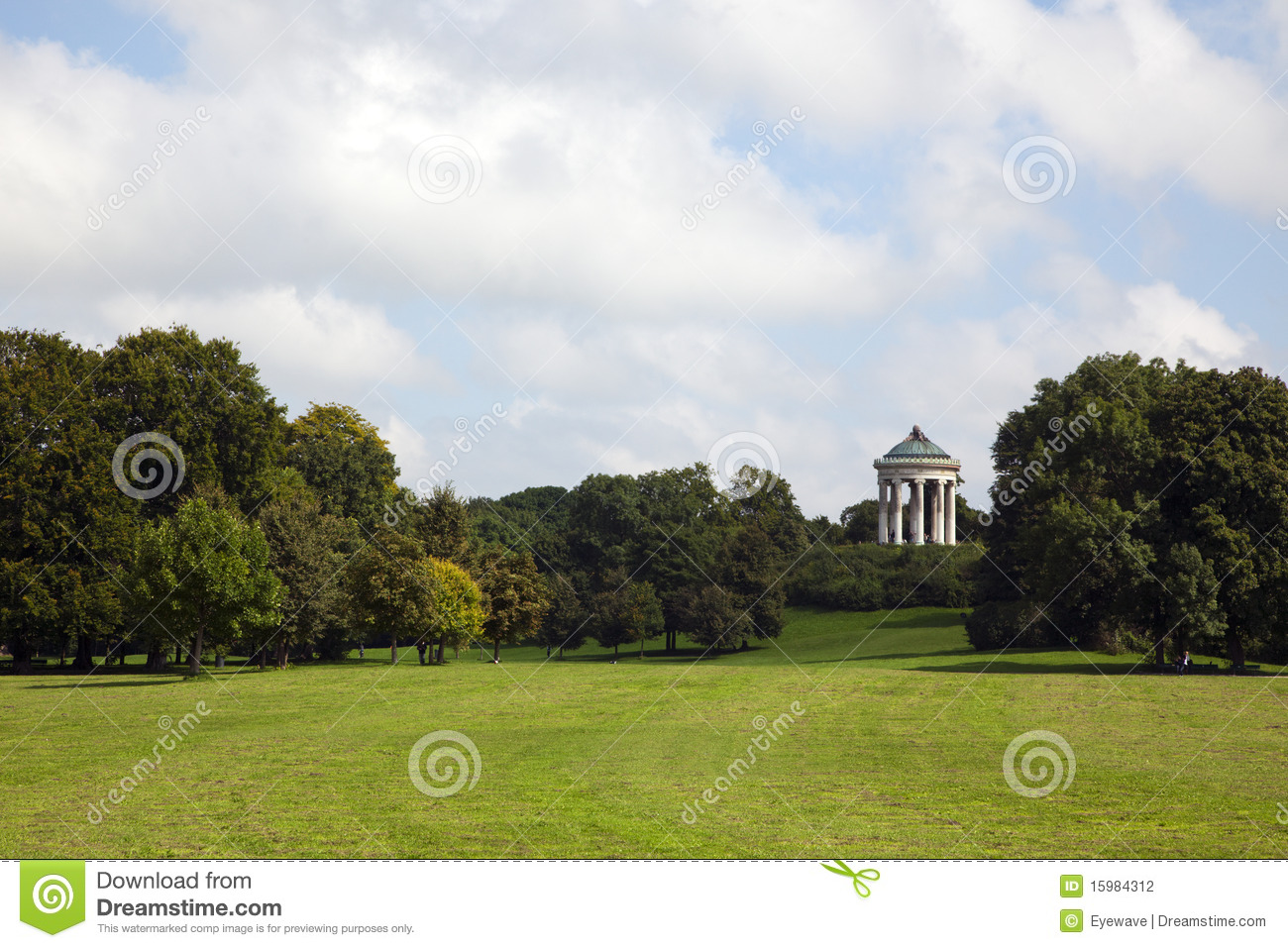 munich englischer garten park with monopteros stock photography image 15984312. Black Bedroom Furniture Sets. Home Design Ideas
