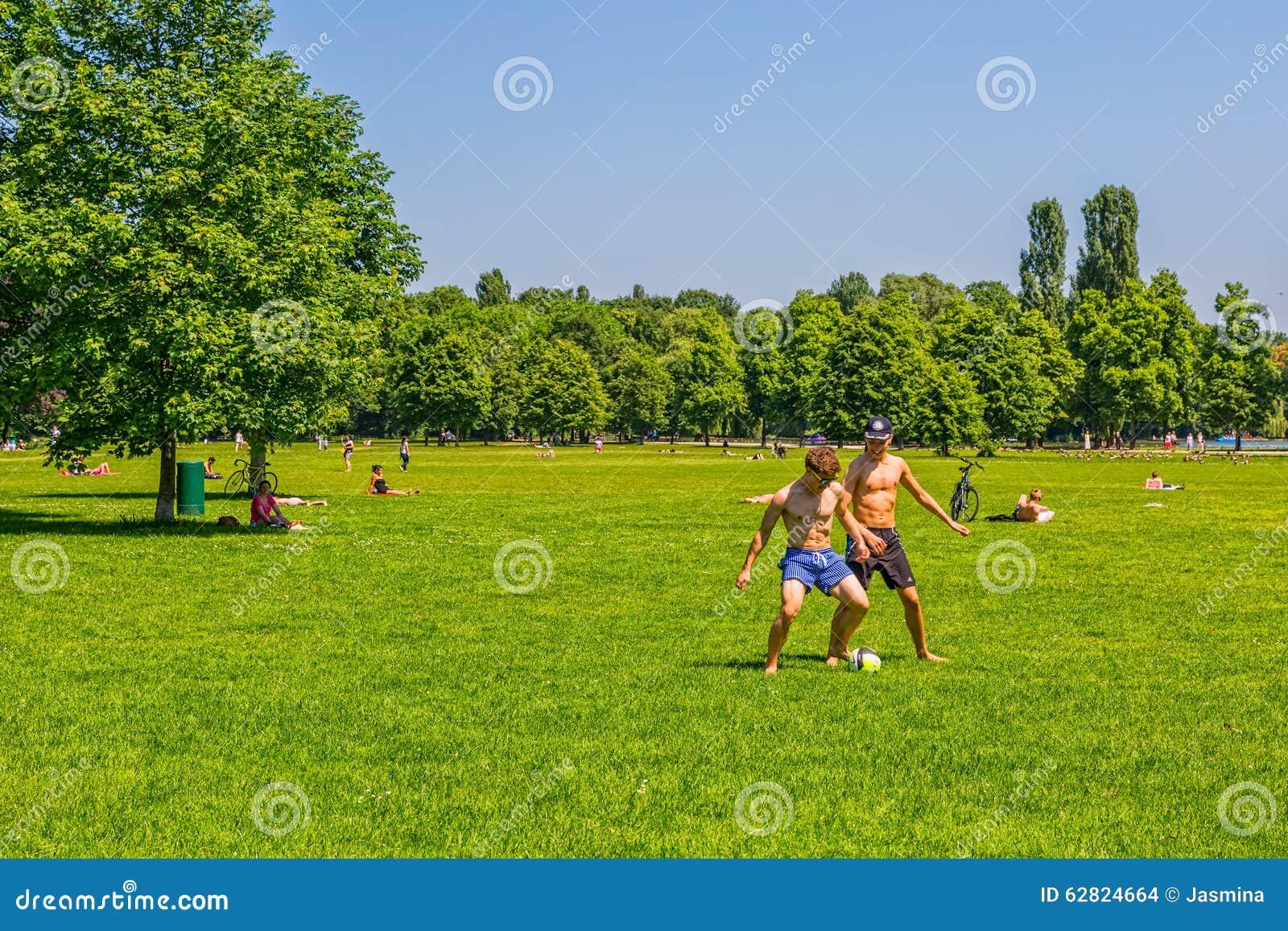 Munich English Garden Park Editorial Stock Image Image
