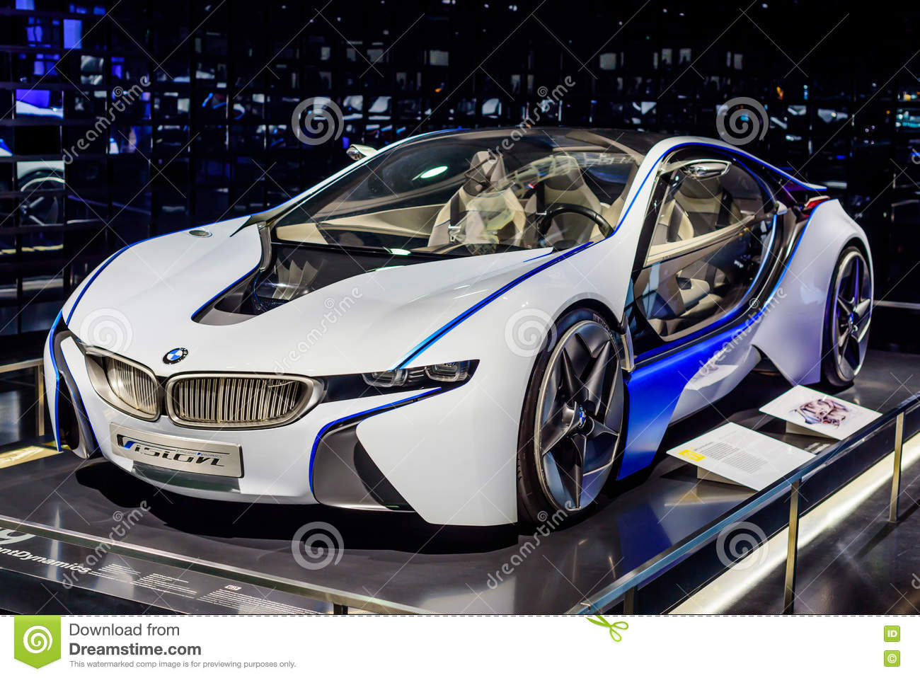 munich germany april 19 2016 futuristic bmw car editorial image image of efficient. Black Bedroom Furniture Sets. Home Design Ideas