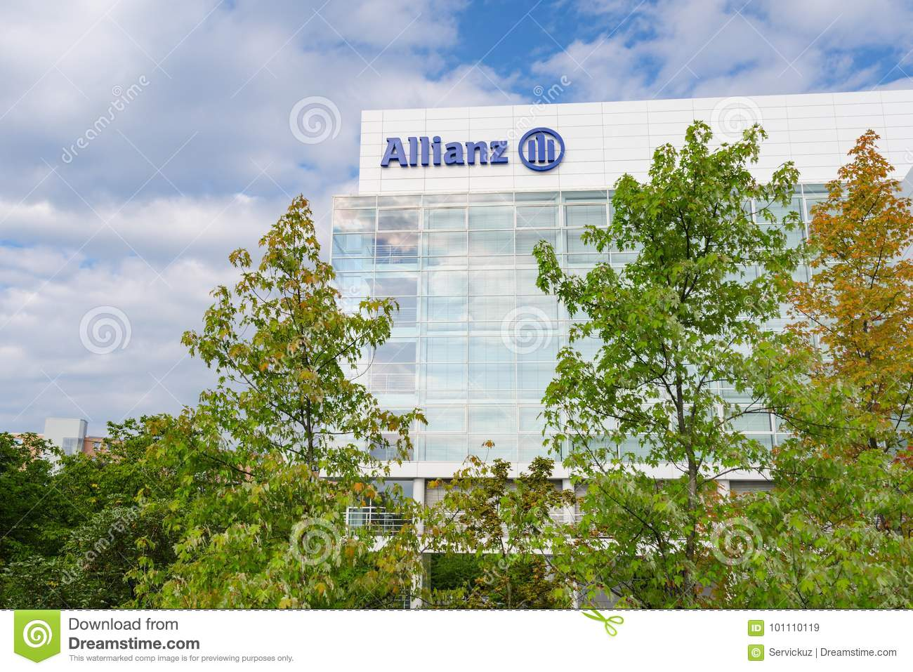 group contemporary office amazon munich germany august 22 2014 allianz se insurance company and financial investment group contemporary office headquarters building in munich insurance company and financial investment group