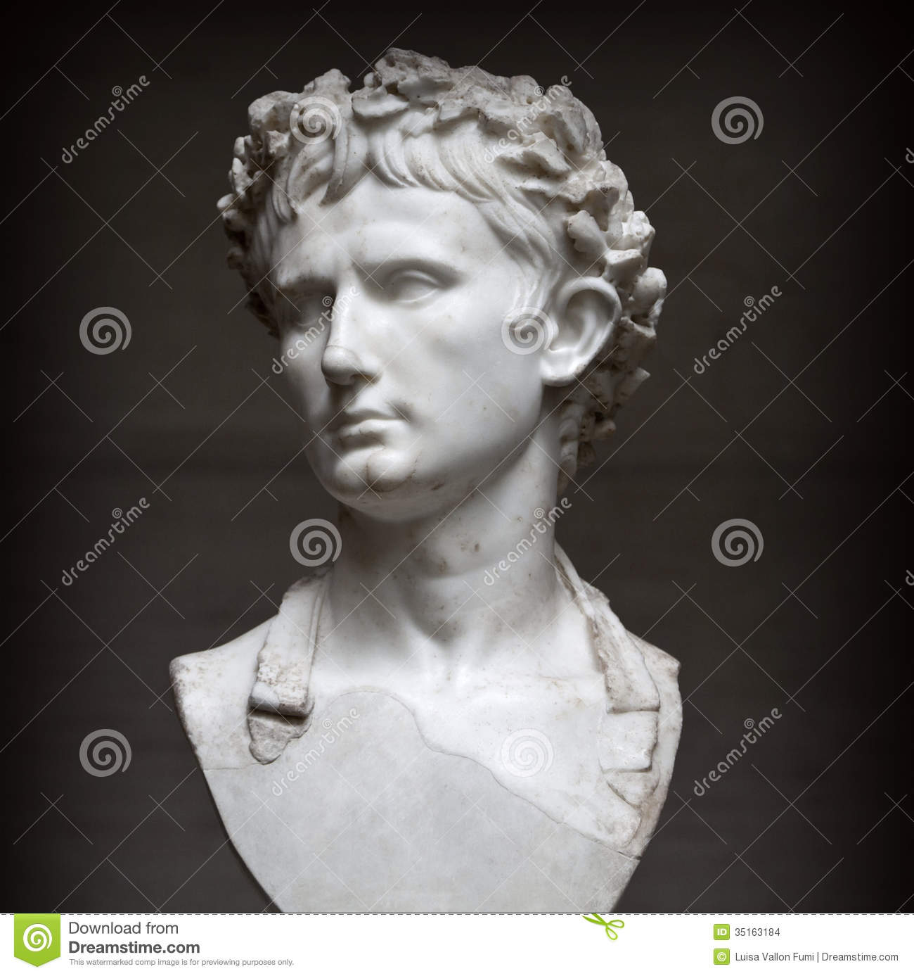 Bust Of Roman Emperor August Wearing The Civ Editorial