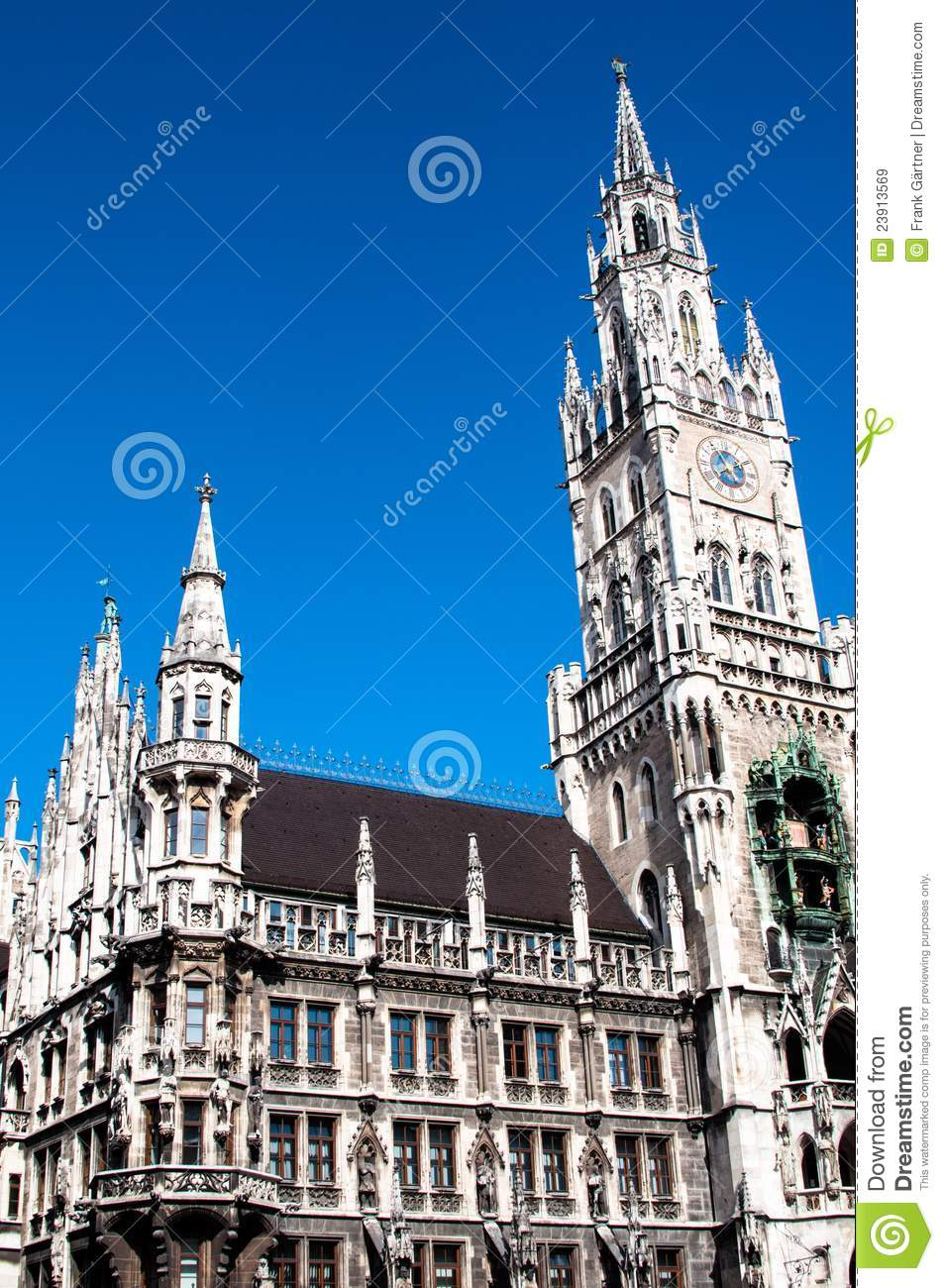 munich town hall royalty free stock images image 23913569. Black Bedroom Furniture Sets. Home Design Ideas