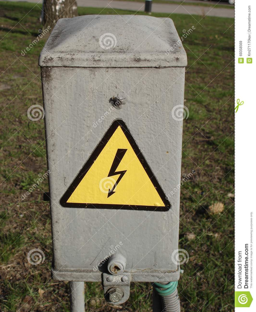A municipal electrical enclosure with high voltage symbol stock a municipal electrical enclosure with high voltage symbol buycottarizona