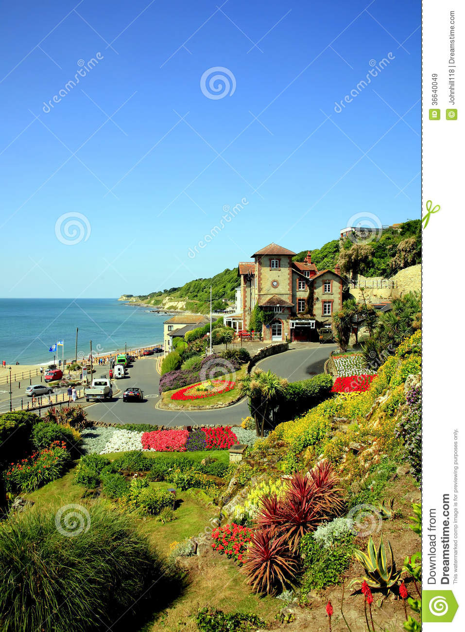 municipal gardens ventnor isle of wight editorial stock image