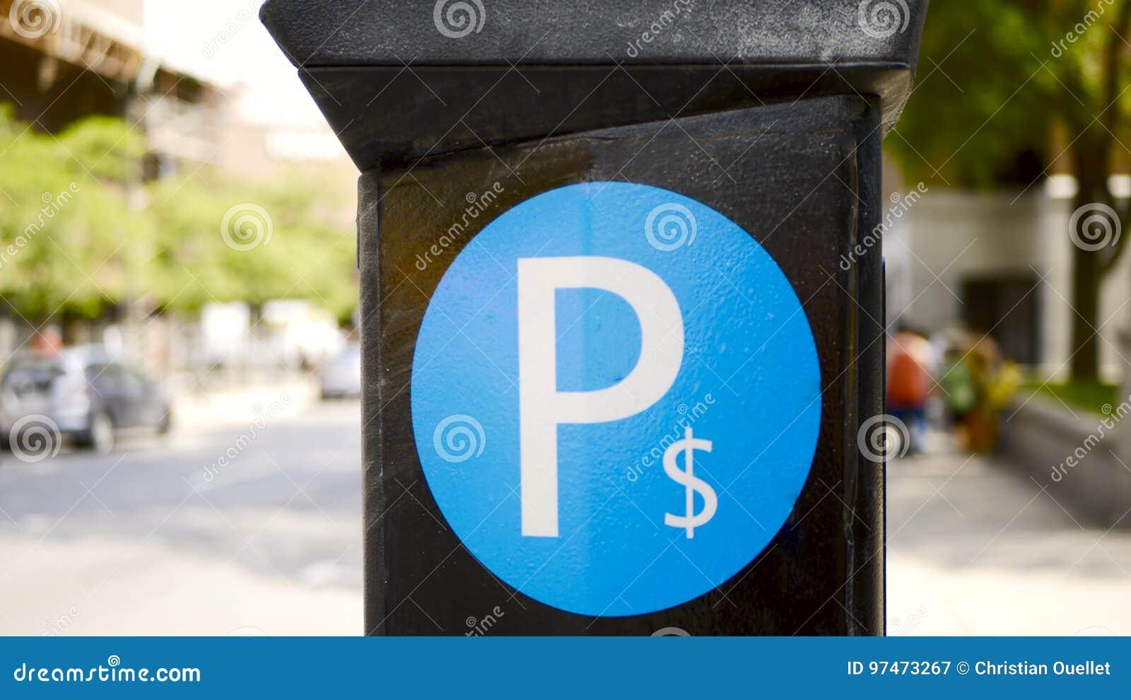 Municipal parking machine in Montreal, Canada