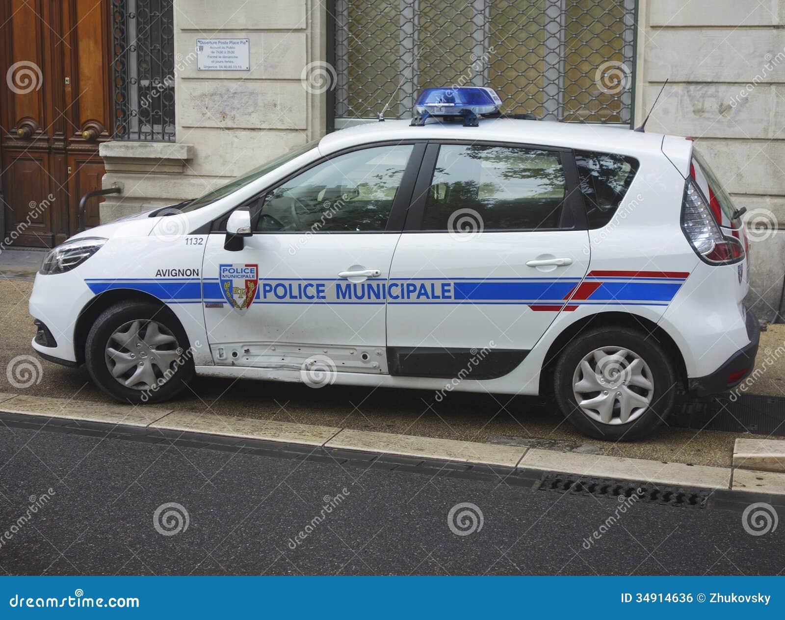 municipal police car in avignon france editorial photo image of delinquency gendarme 34914636. Black Bedroom Furniture Sets. Home Design Ideas