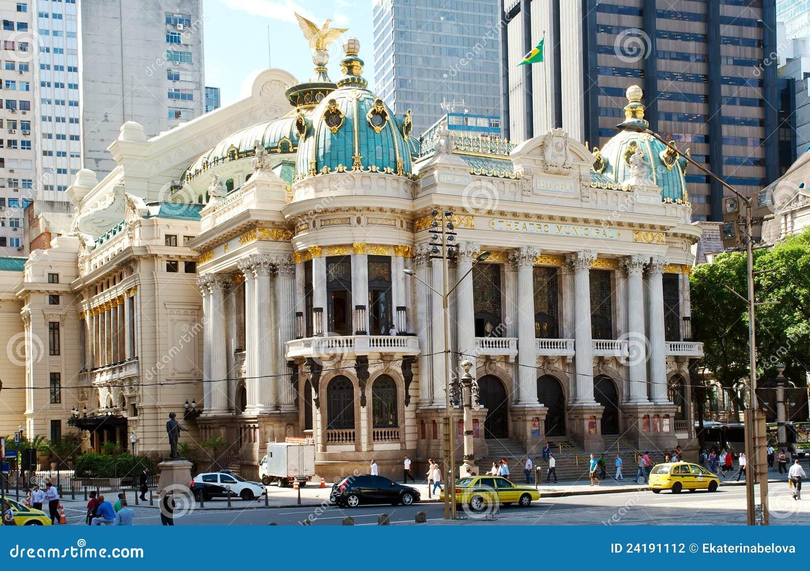 The Municipal Theatre in Rio de Janeiro