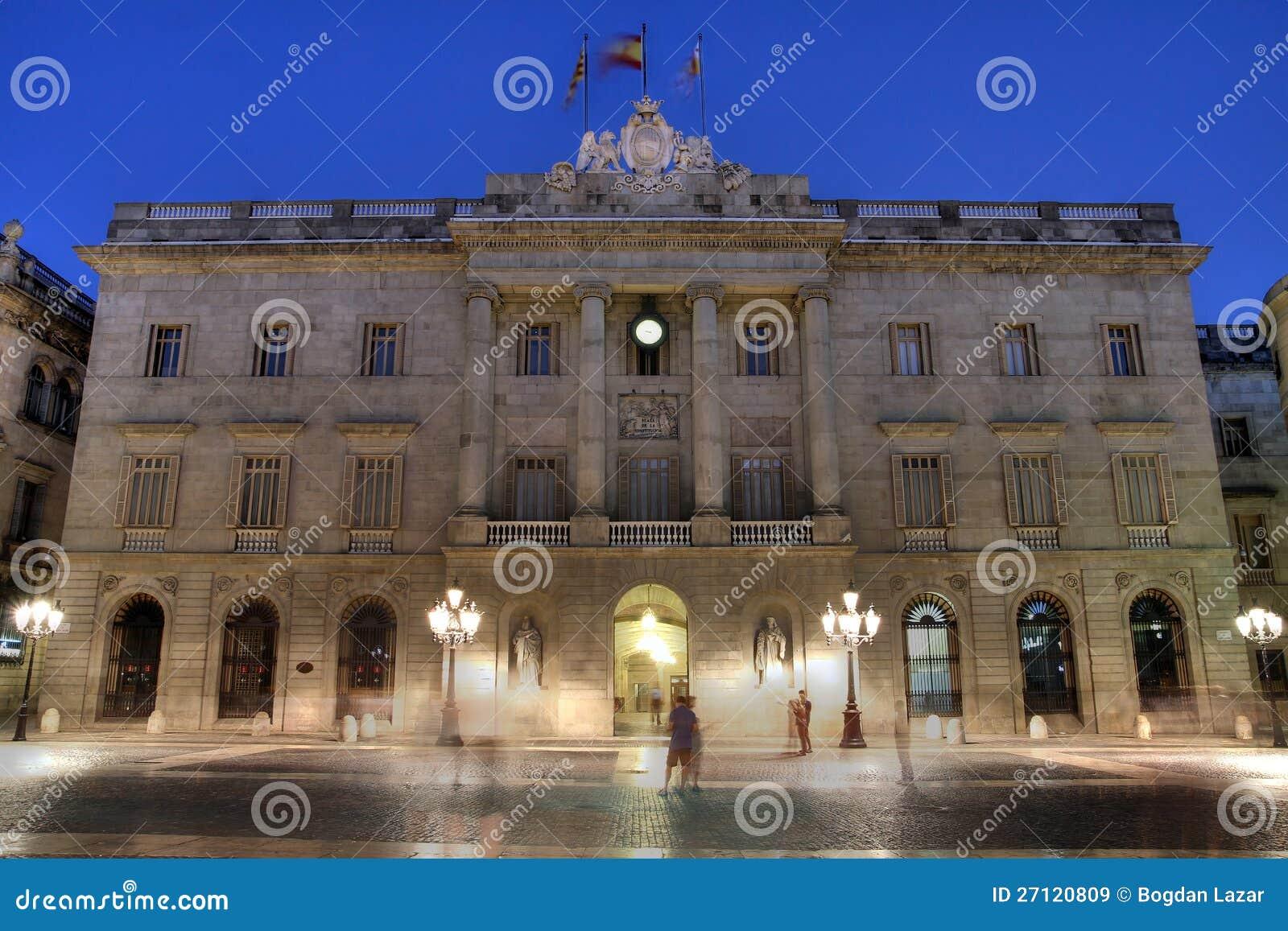 Municipio spagna di barcellona immagini stock libere da for Spagna barcellona