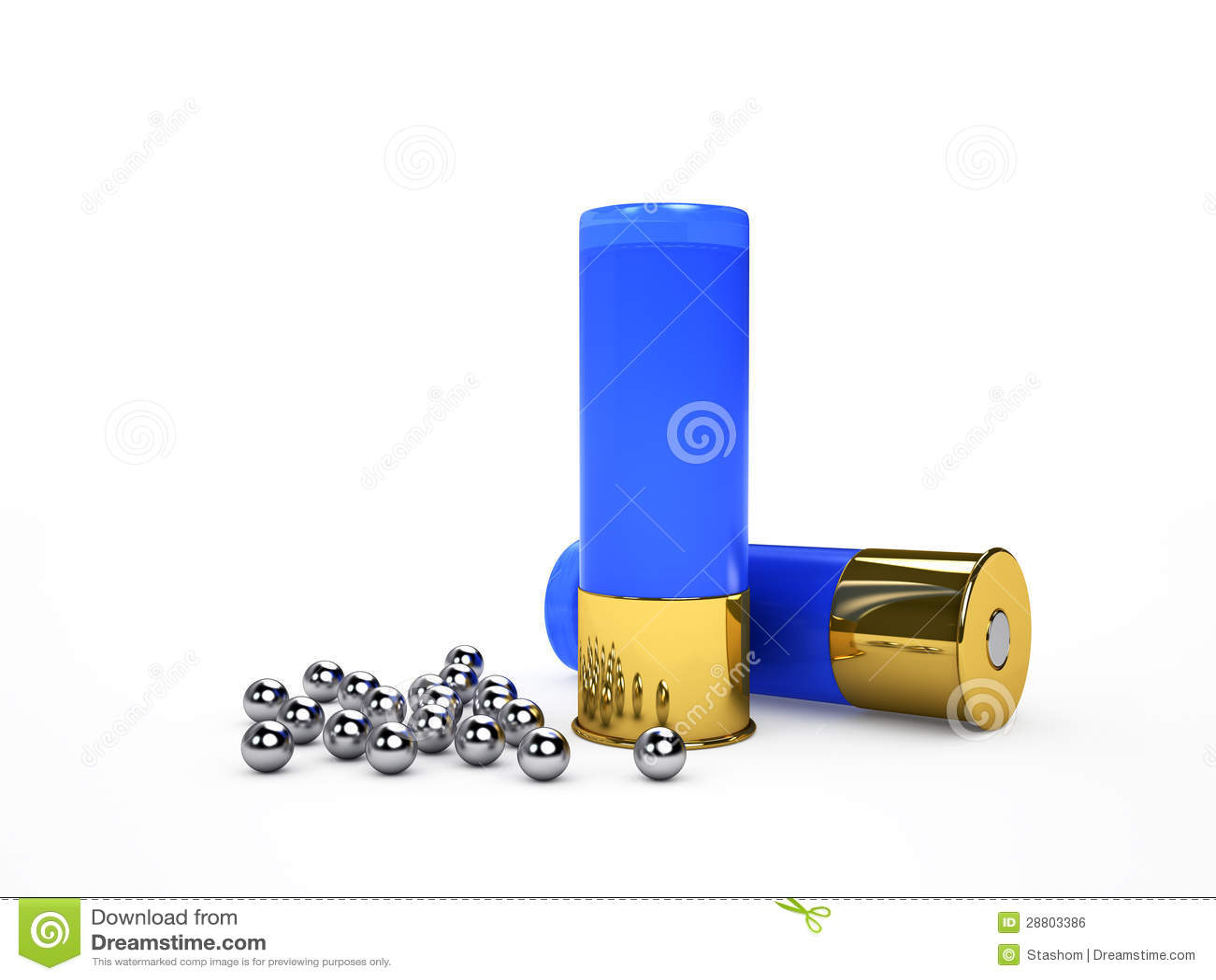 Munitions et tir bleus