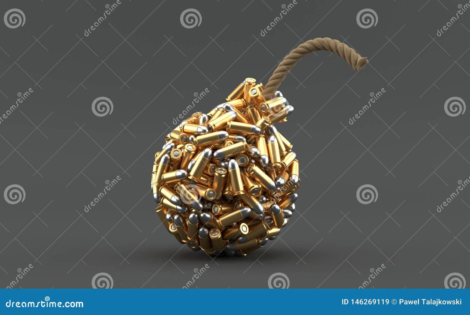 Munizioni nella forma della bomba