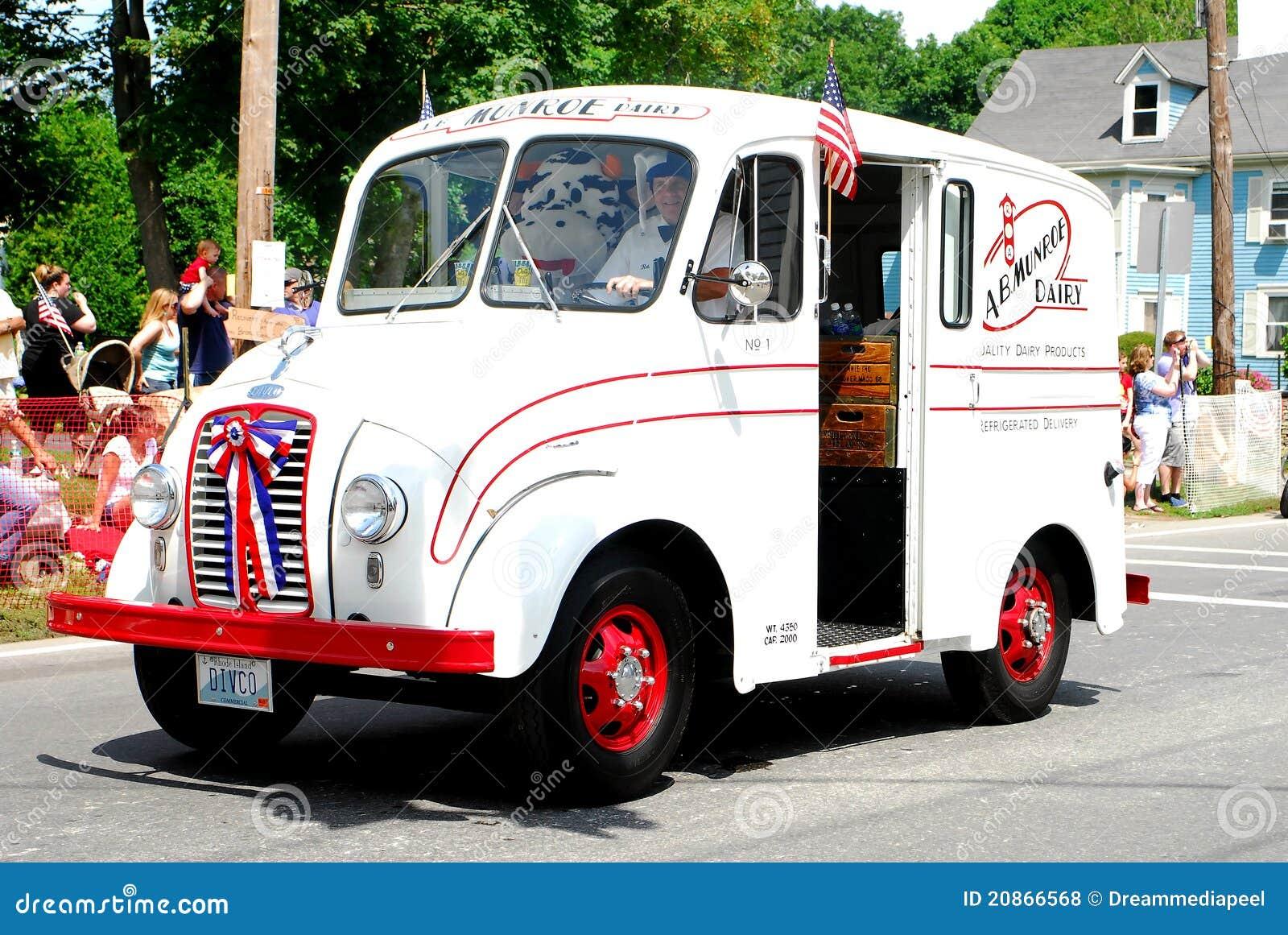 Munroe Dairy Vintage Milk Delivery Truck Editorial Stock