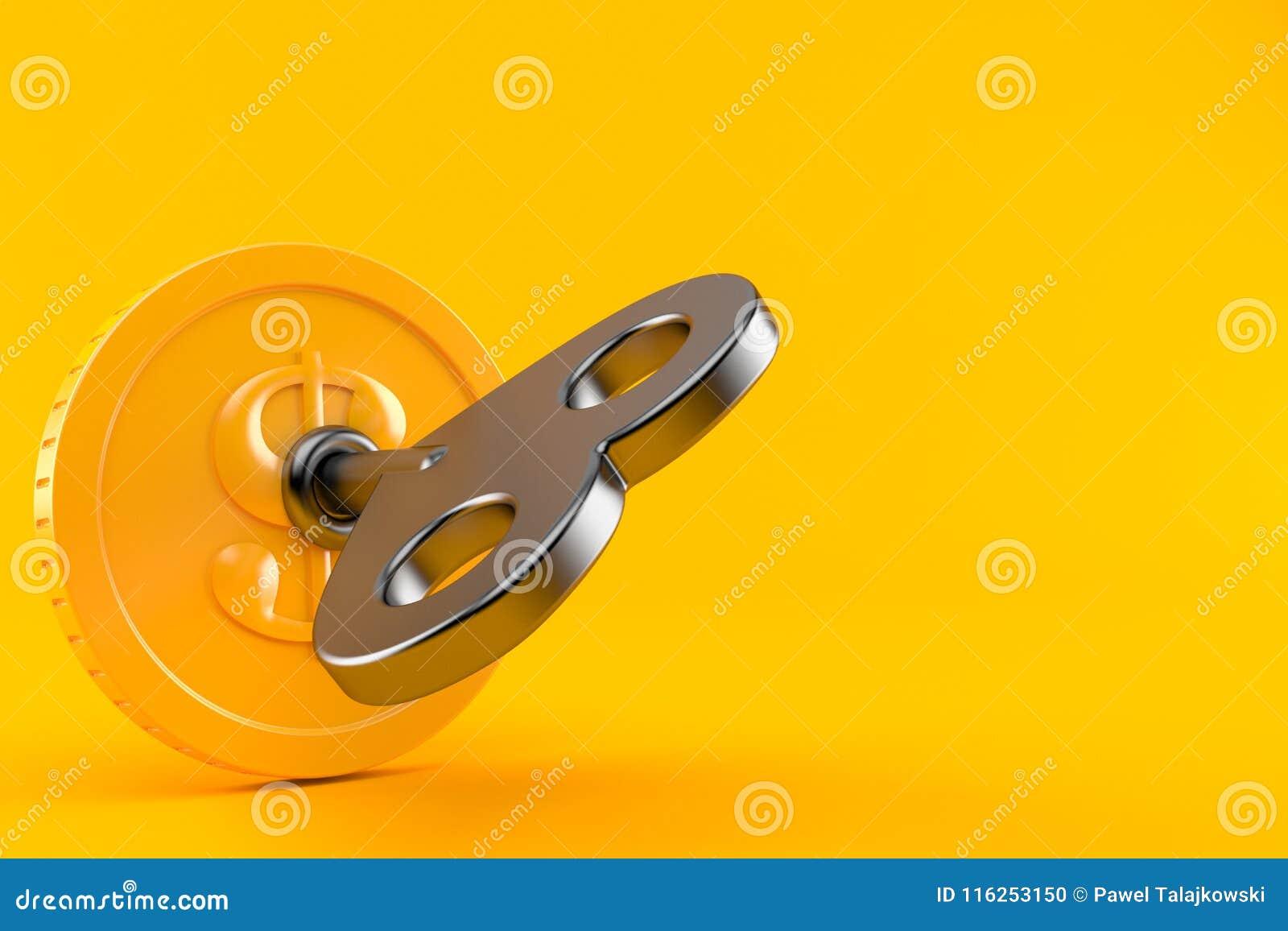 Muntstuk met sleutel