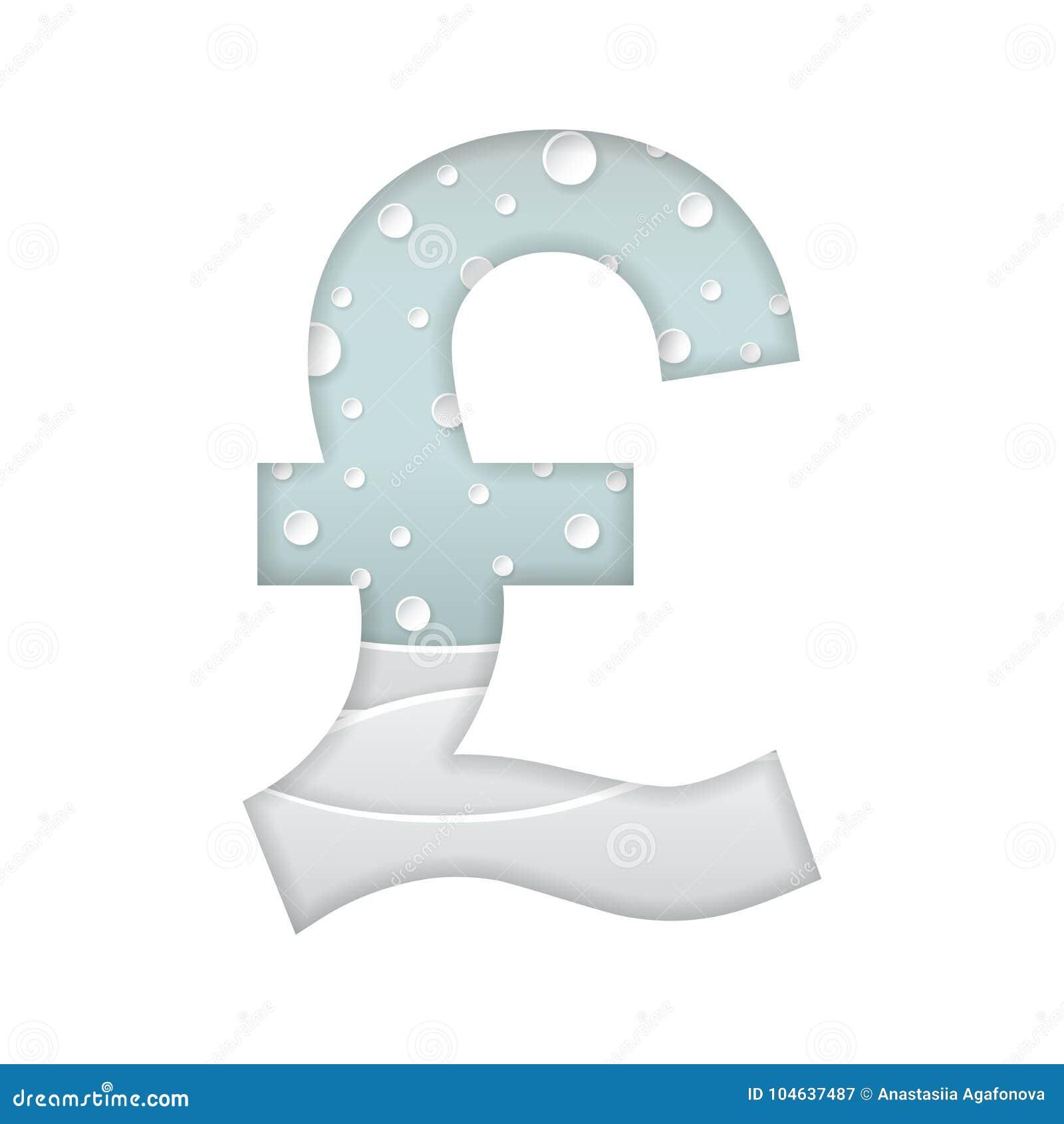Download Muntteken Van Pond Sterling Vector Illustratie - Illustratie bestaande uit geld, brief: 104637487
