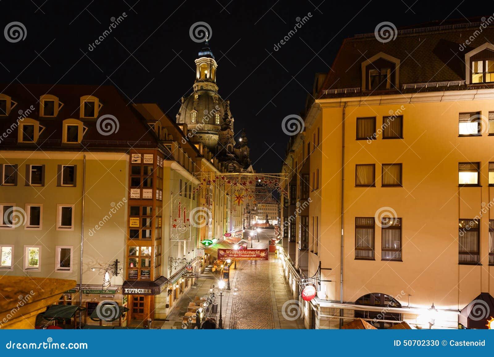 Munzgasse - Zwyczajna ulica w Drezdeńskim