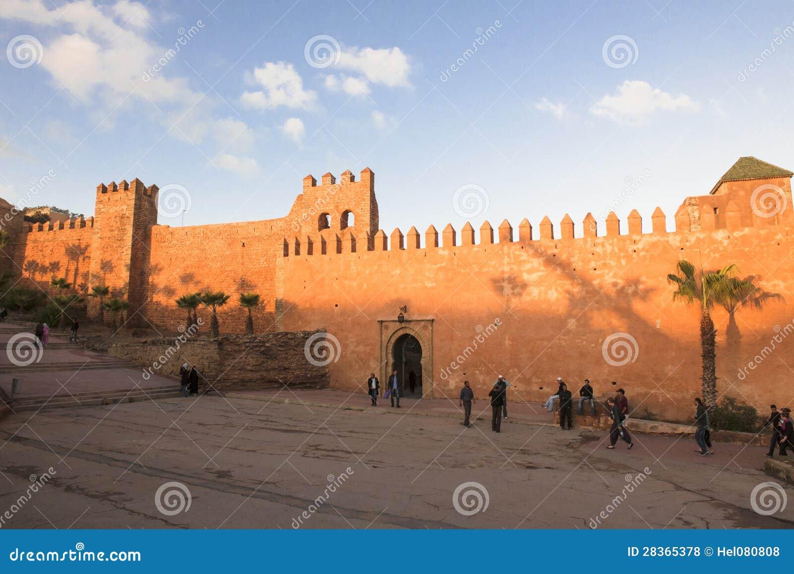 Mur à Rabat, Marocco