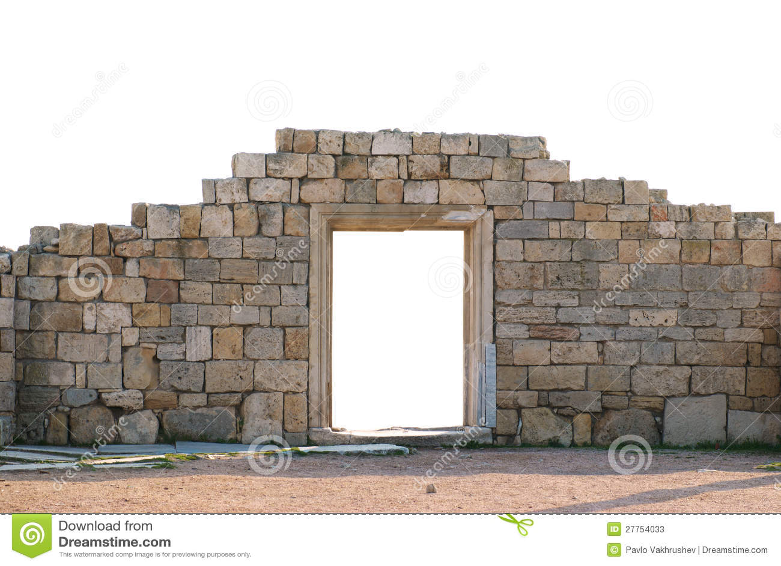 Mur antique avec la trappe