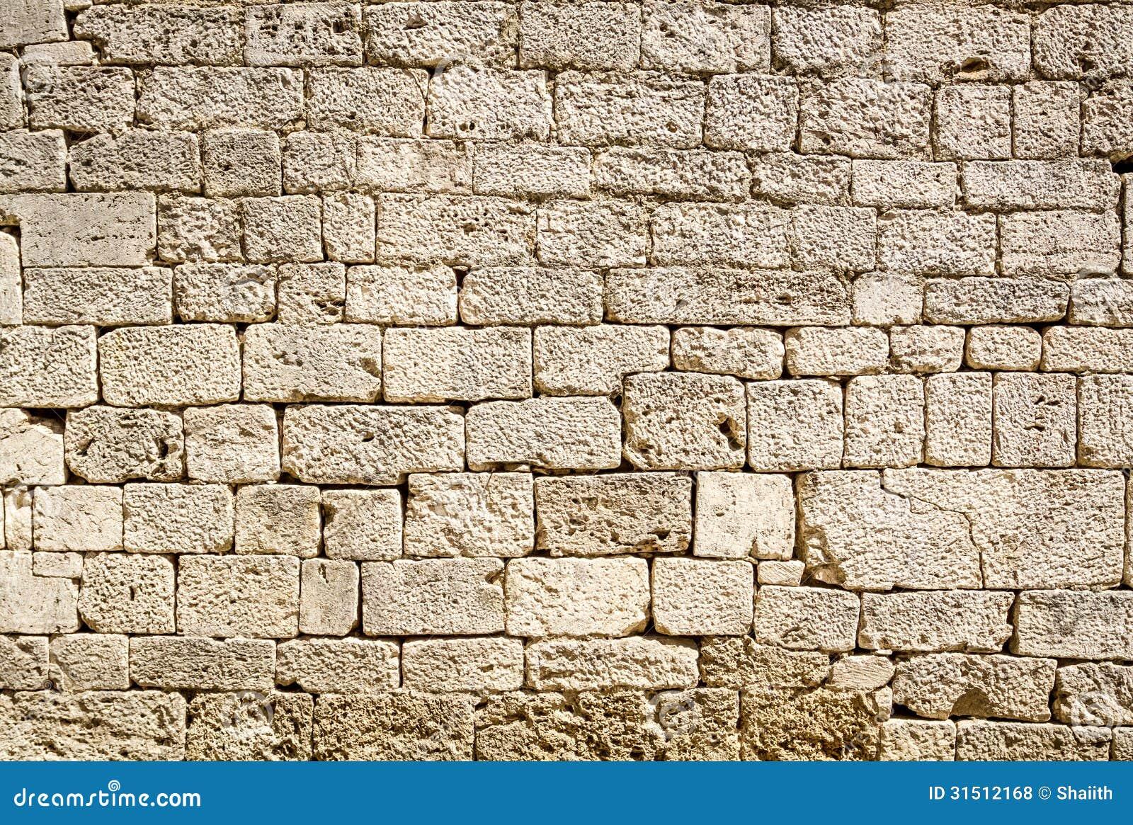 mur antique construit de la pierre blanche photos libres de droits image 31512168. Black Bedroom Furniture Sets. Home Design Ideas