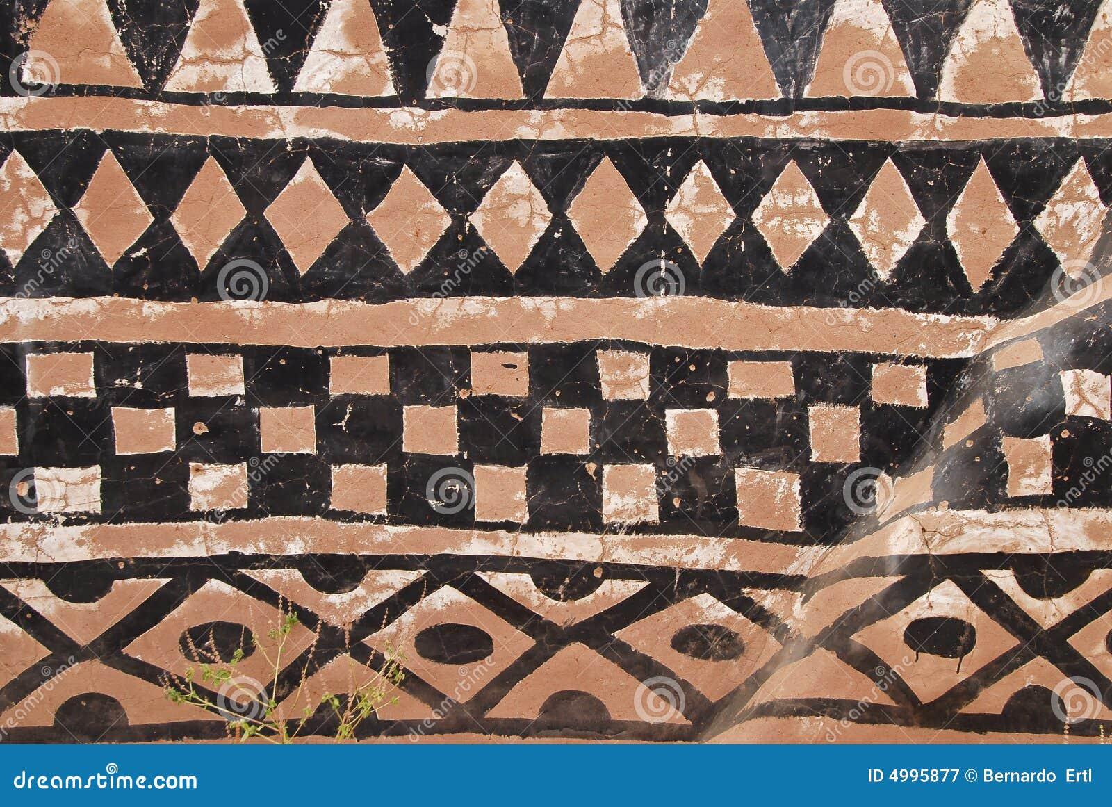 Mur avec la peinture tribale africaine photographie stock libre de droits image 4995877 - Droit locataire peinture murs ...