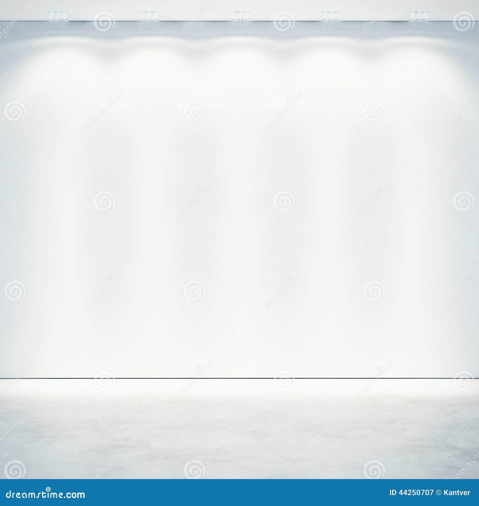 Mur blanc avec des projecteurs